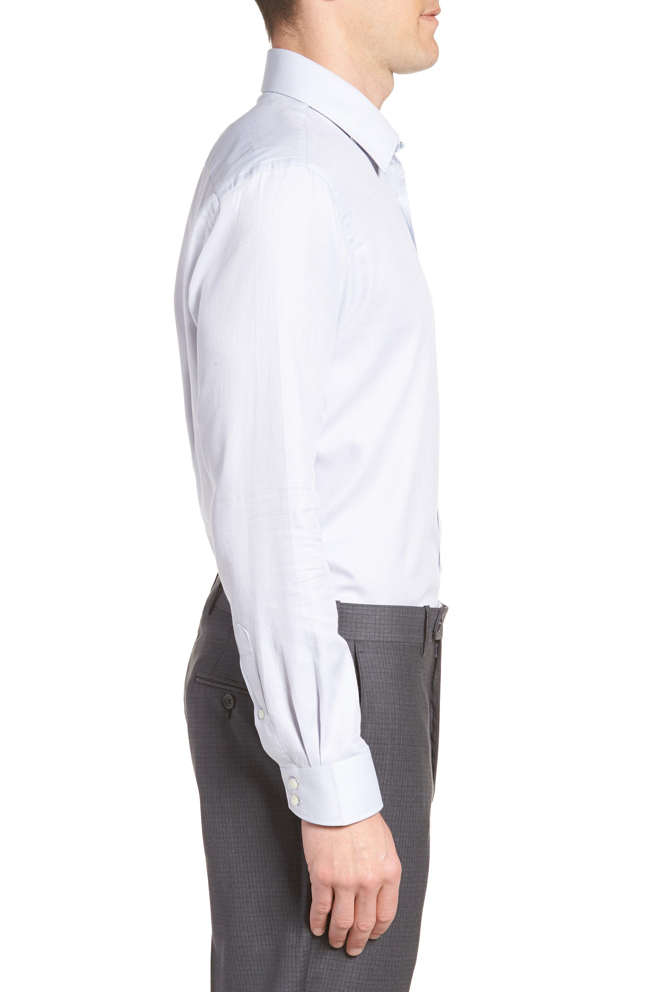 Ollyox Slim Fit Solid Dress Shirt,                             Alternate thumbnail 4, color,                             GREY