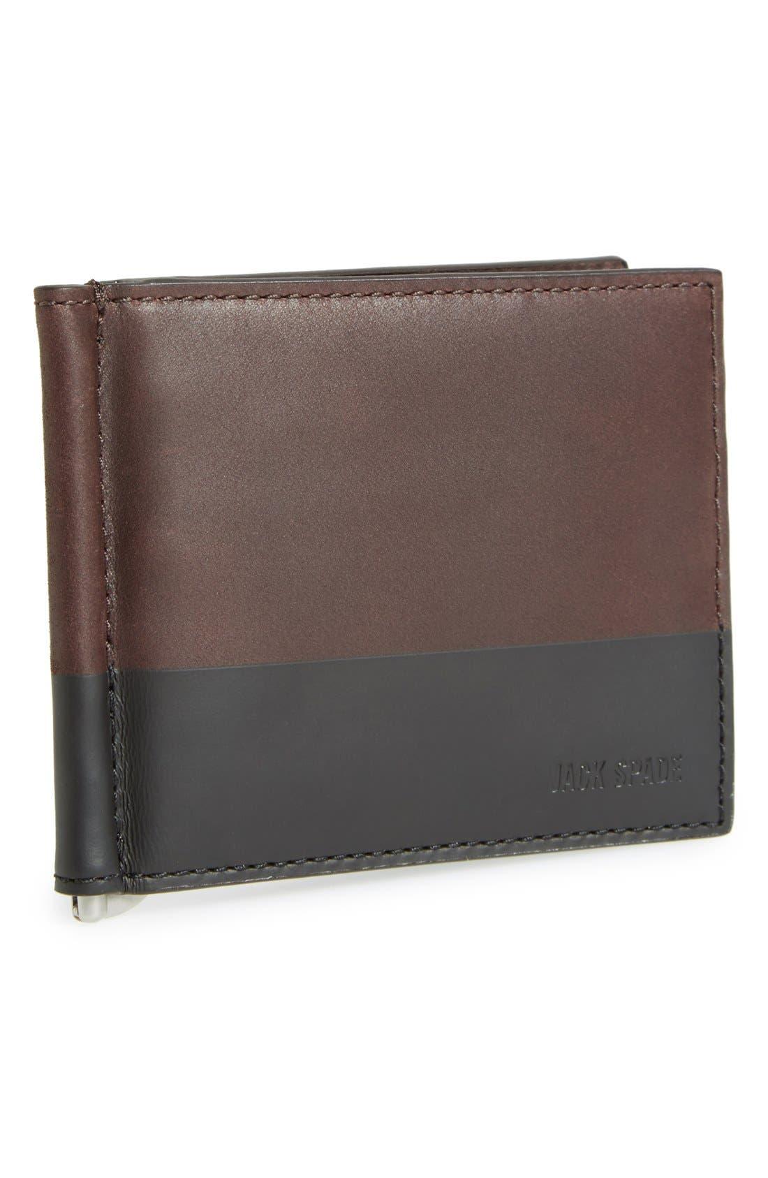 JACK SPADE Leather Money Clip Wallet, Main, color, 203