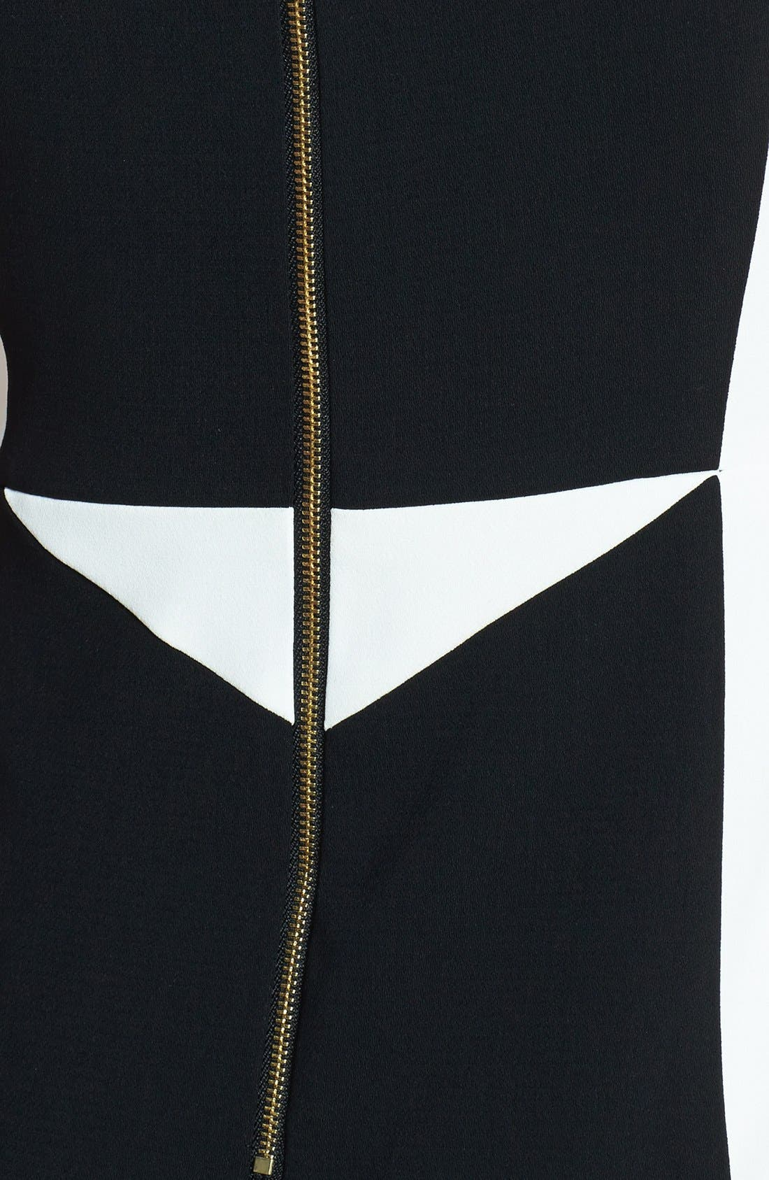 Colorblock Sheath Dress,                             Alternate thumbnail 4, color,                             001