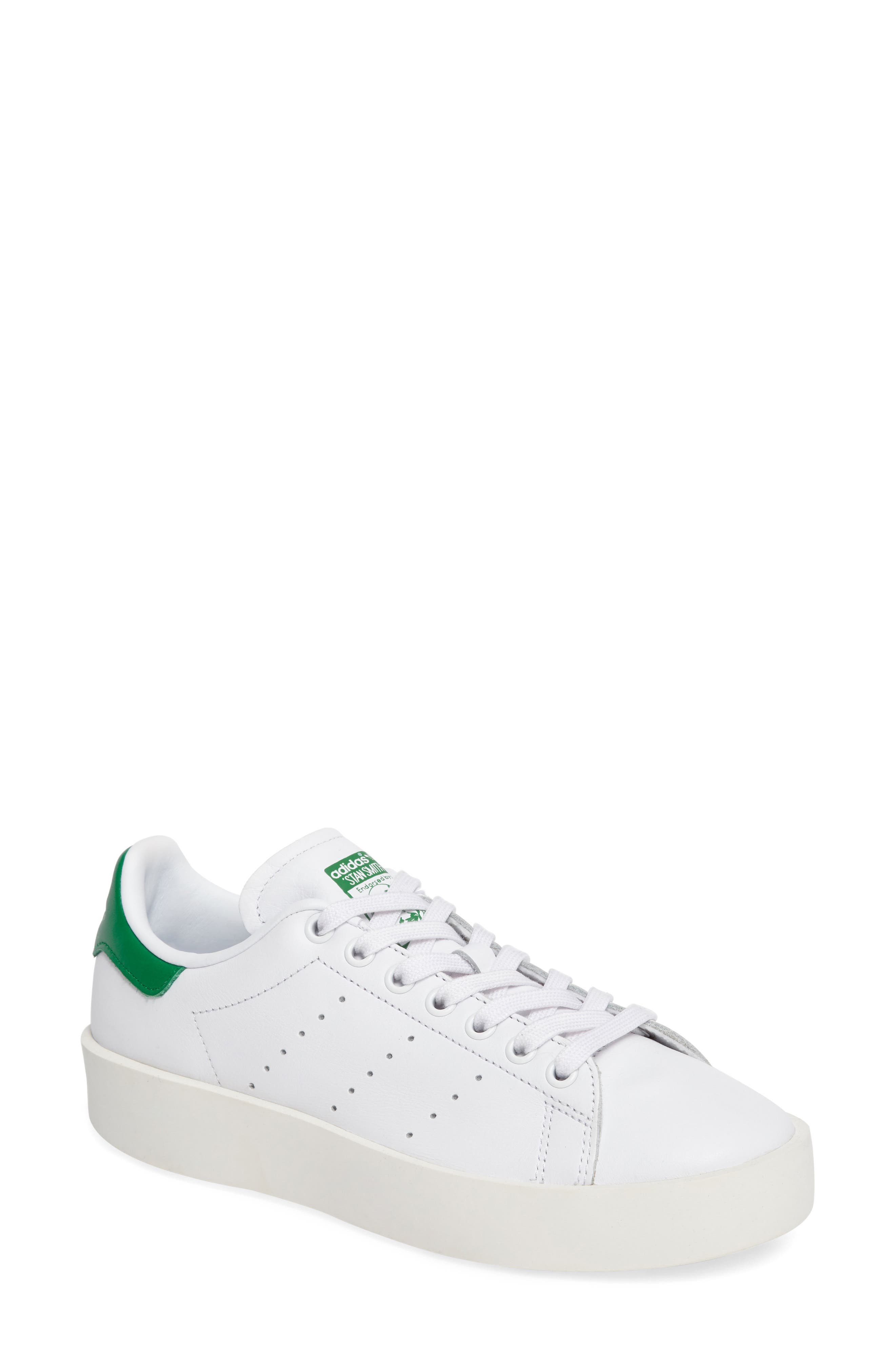 Stan Smith Bold Platform Sneaker,                             Main thumbnail 1, color,                             100