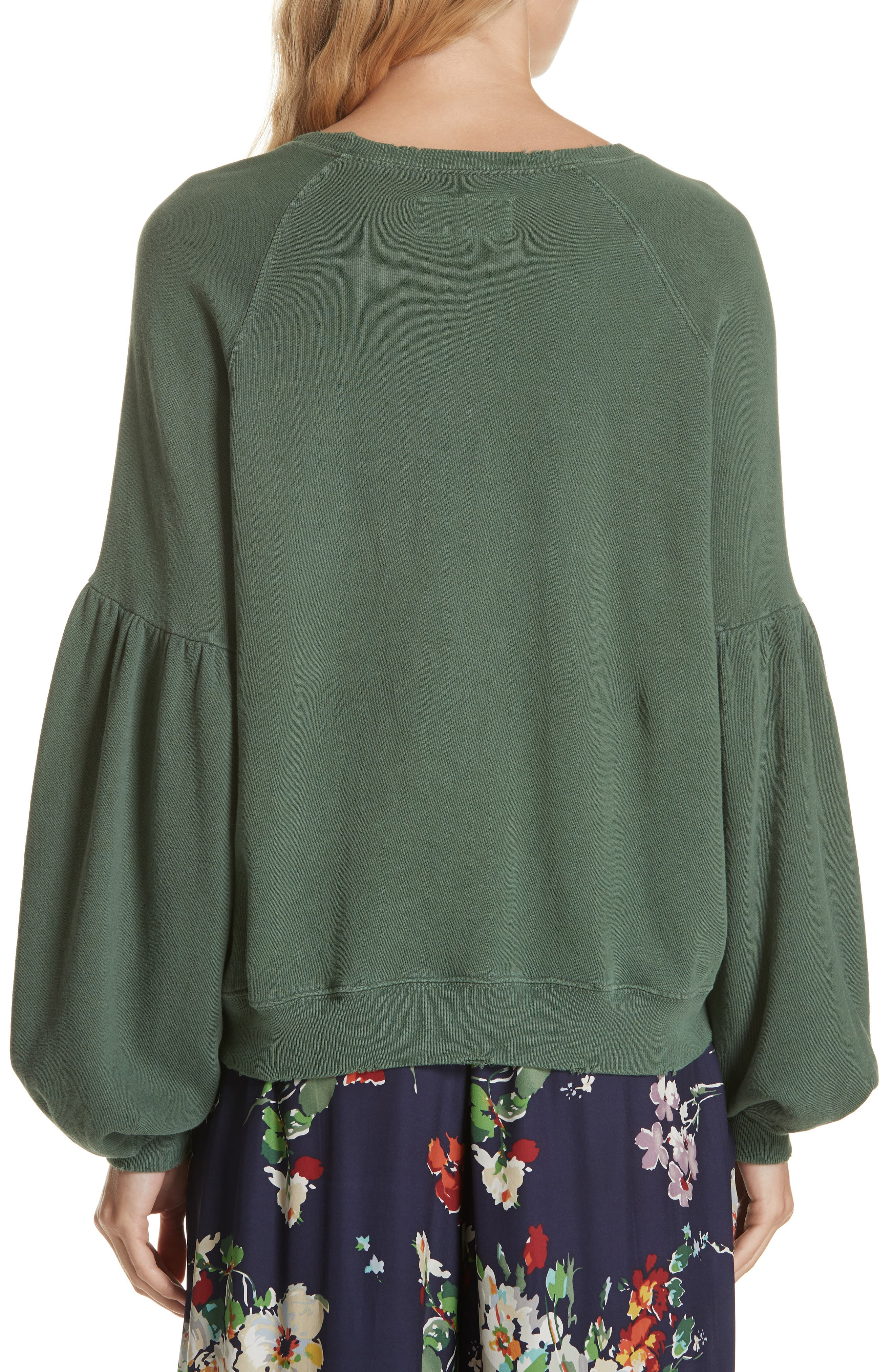 The Bishop Sleeve Sweatshirt,                             Alternate thumbnail 2, color,                             PINE