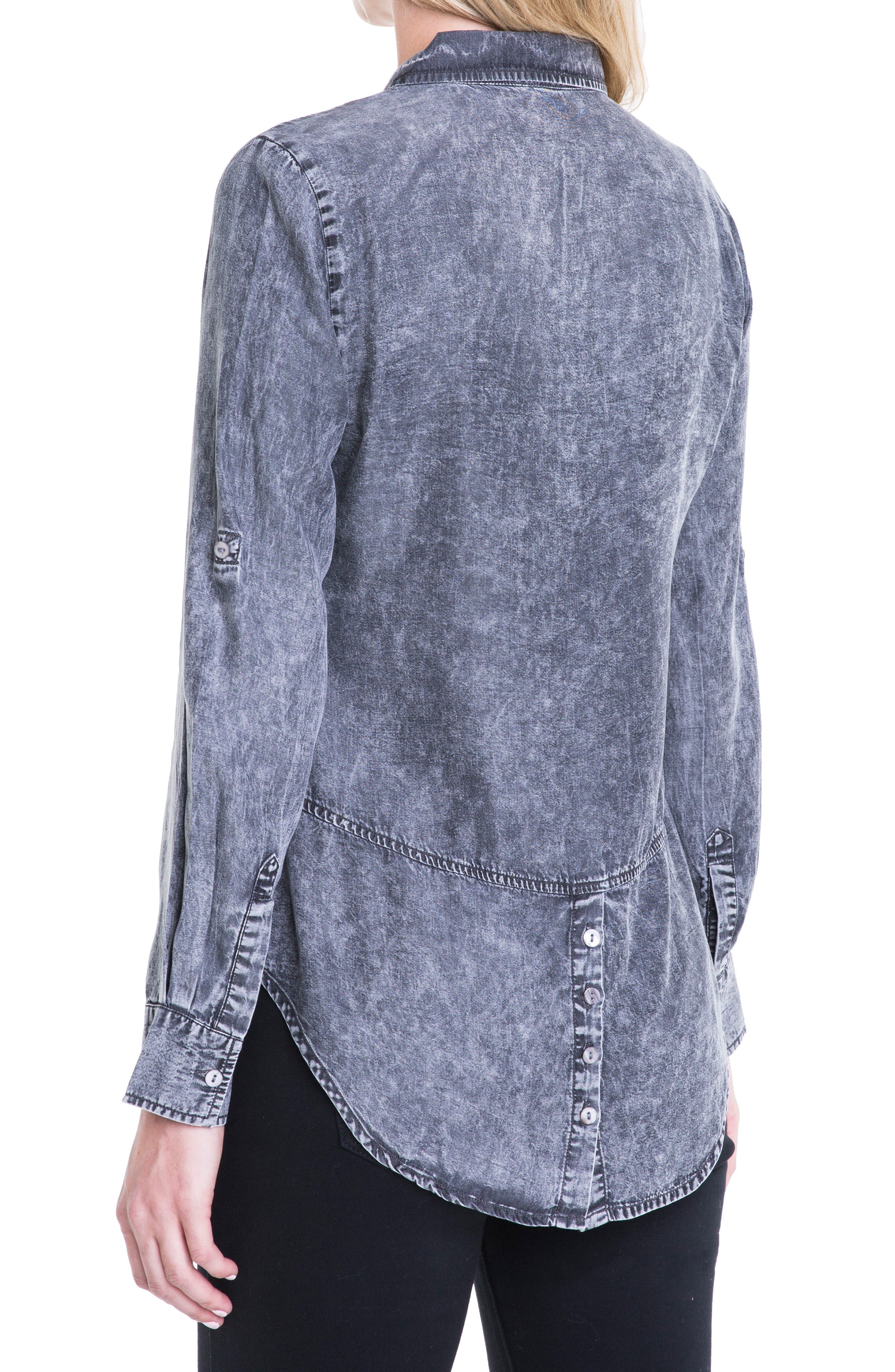Button Back Chambray Shirt,                             Alternate thumbnail 7, color,