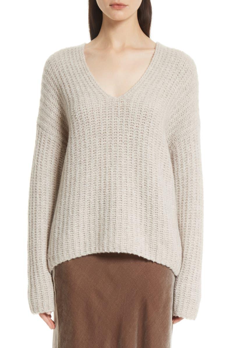 Vince Deep V-Neck Cashmere Blend Sweater  5e3033159