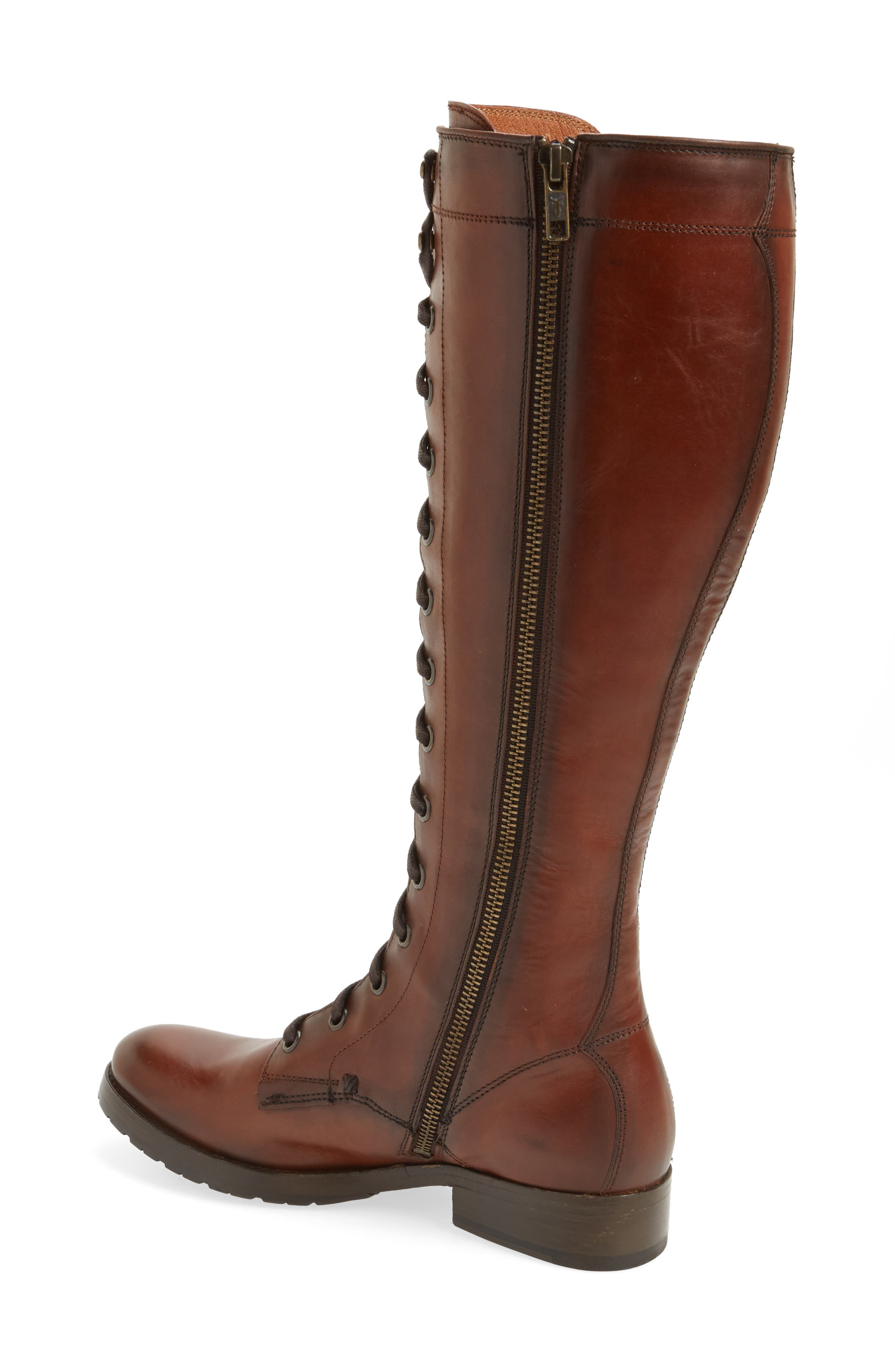 Melissa Tall Lace-Up Boot,                             Alternate thumbnail 4, color,