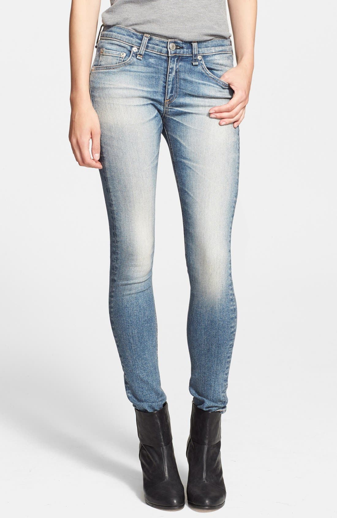 'The Skinny' Stretch Jeans,                             Main thumbnail 13, color,