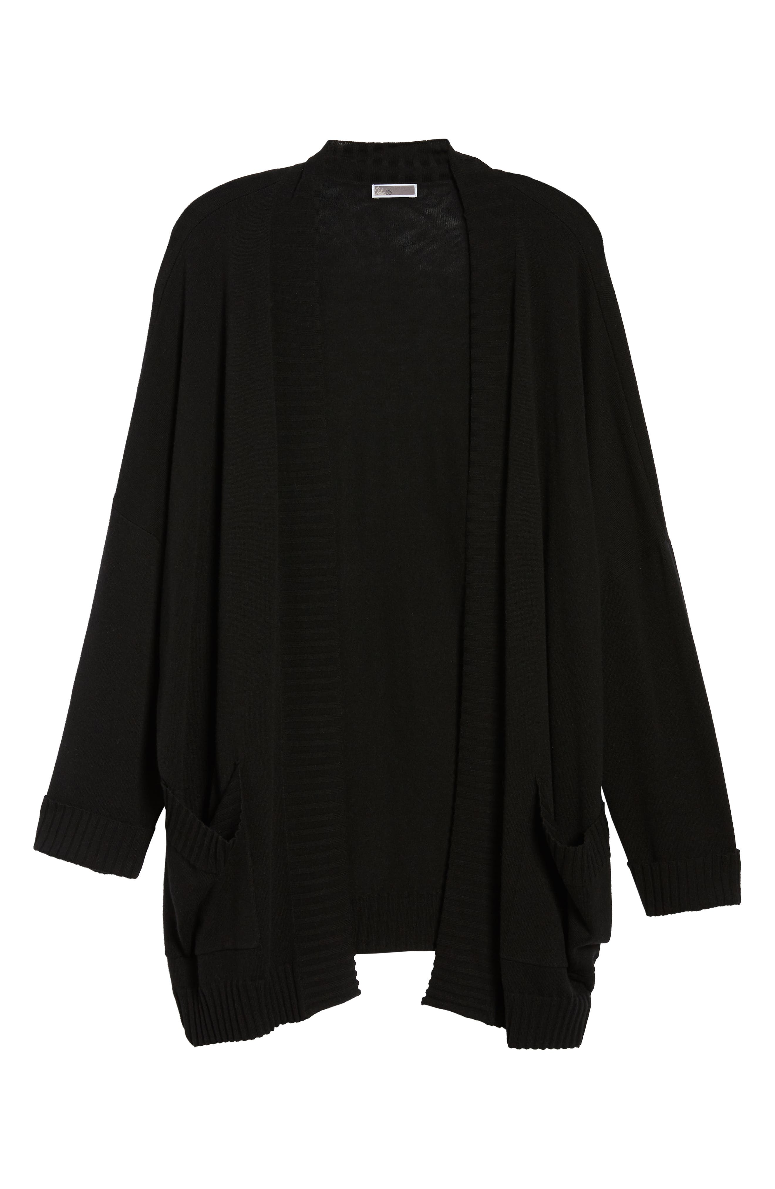 Oversize Open Cardigan,                             Alternate thumbnail 7, color,                             001