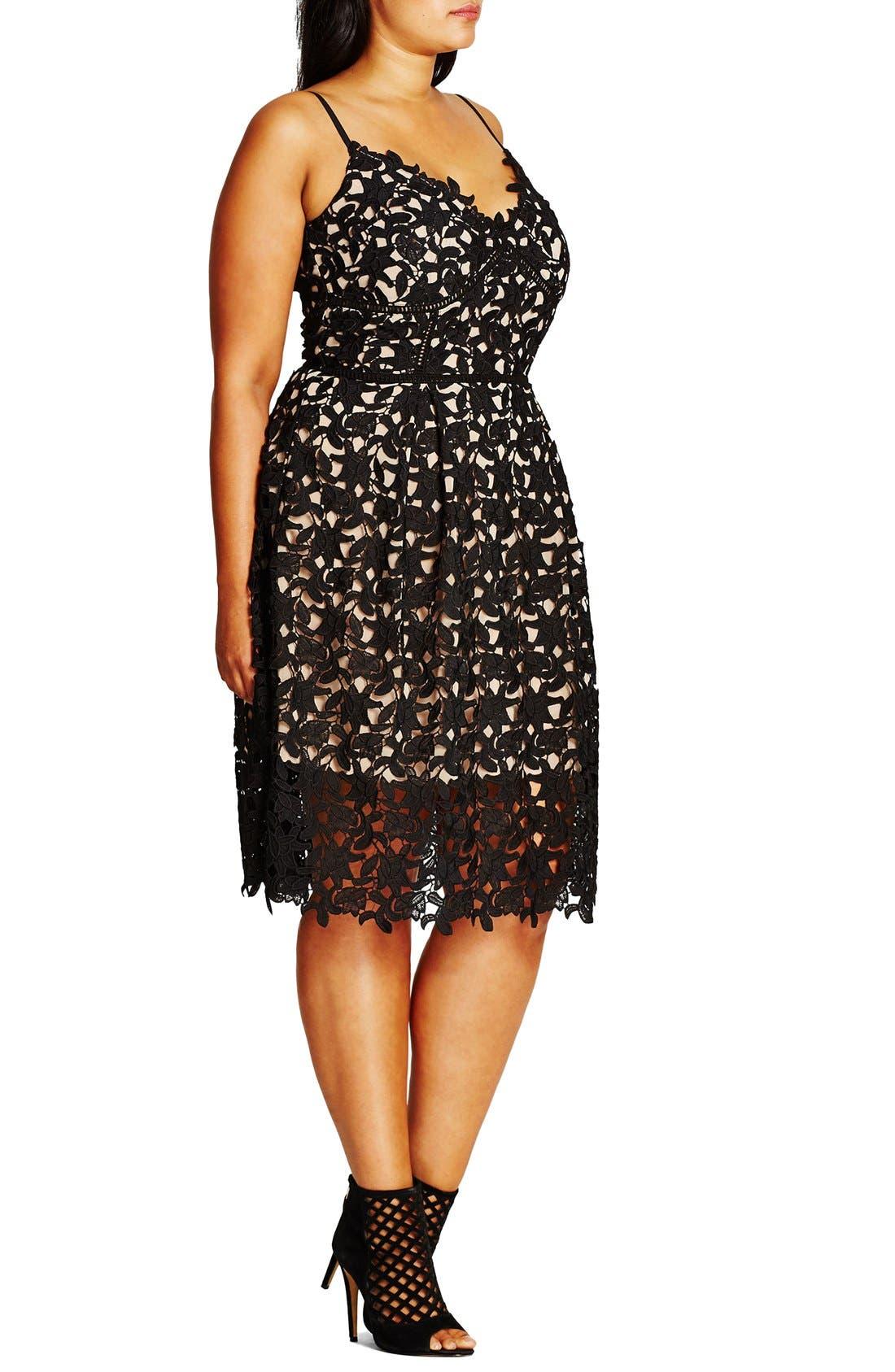 So Fancy Lace Dress,                             Alternate thumbnail 4, color,                             BLACK