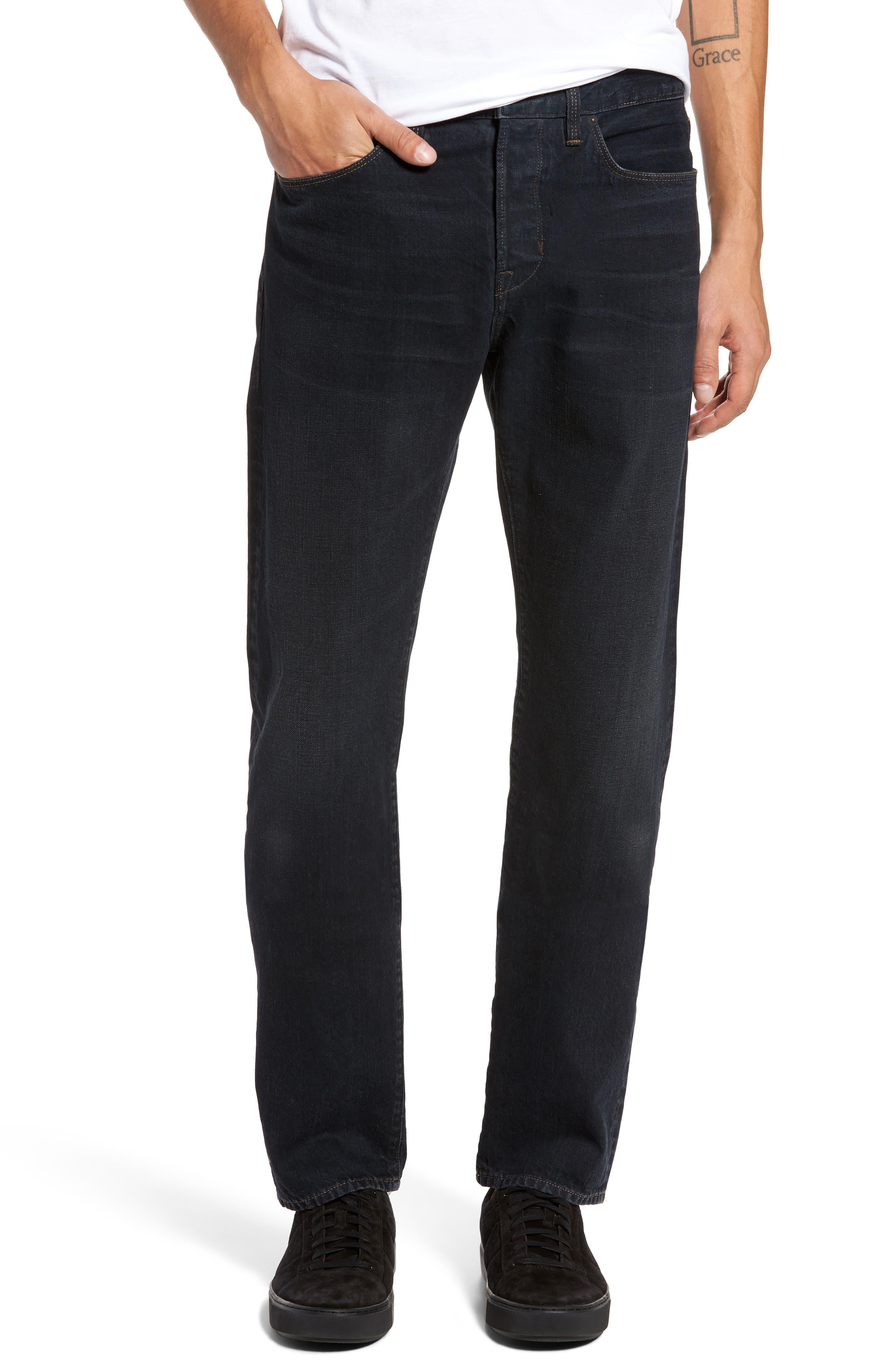 Slim Straight Leg Jeans,                             Main thumbnail 1, color,                             004