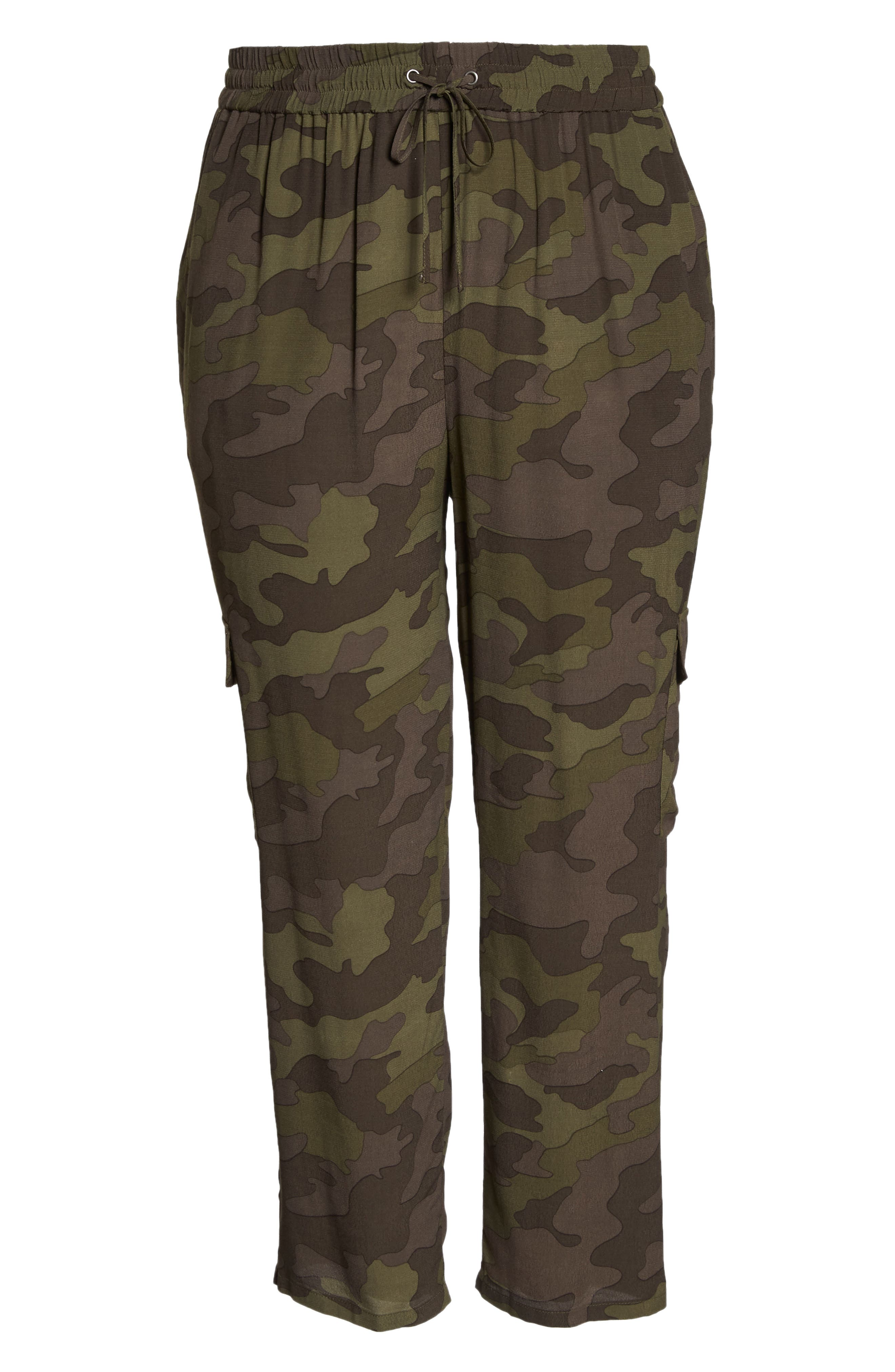 High Rise Camouflage Cargo Pants,                             Alternate thumbnail 11, color,                             210