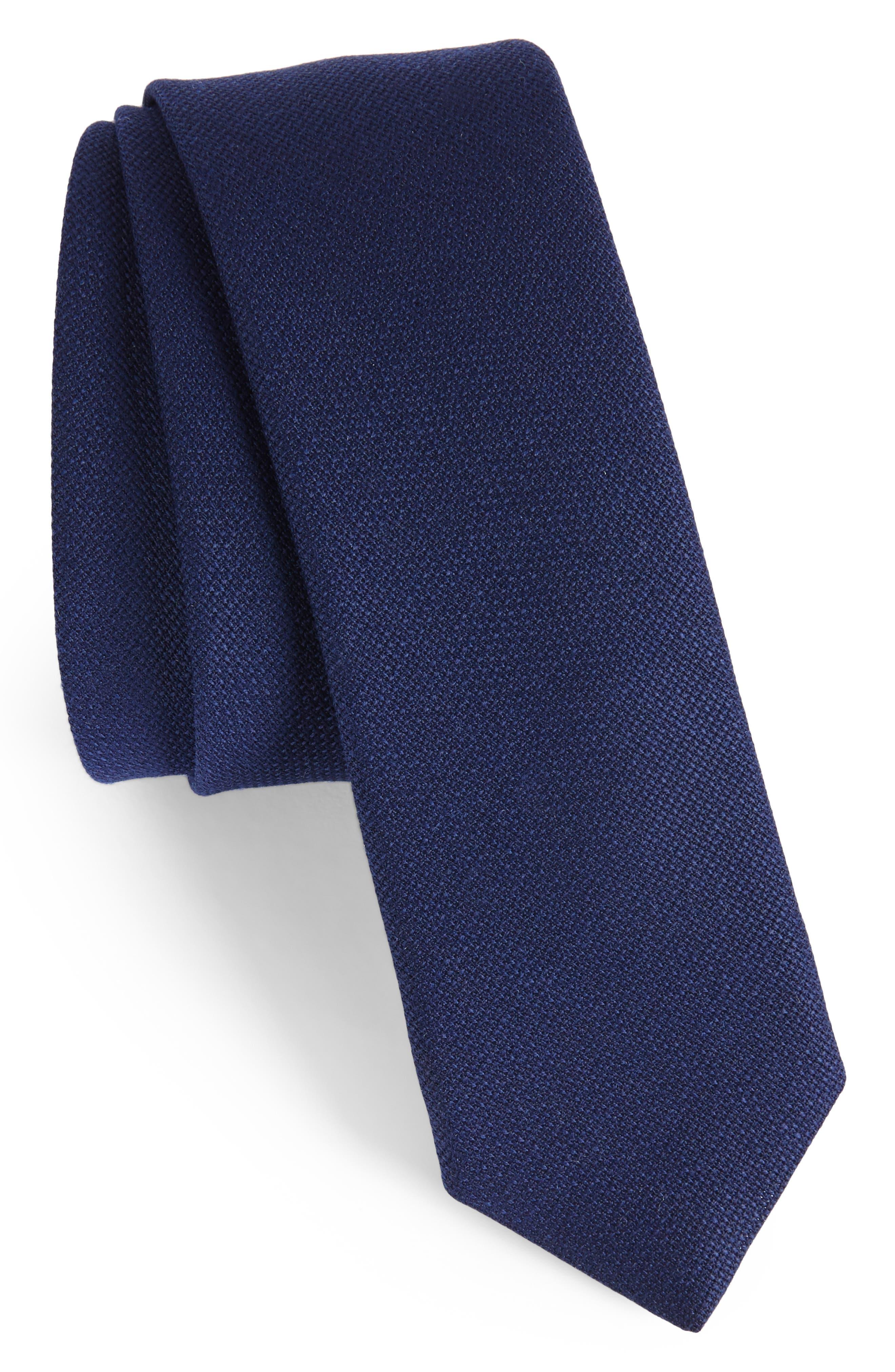Marled Wool Skinny Tie,                         Main,                         color, 410