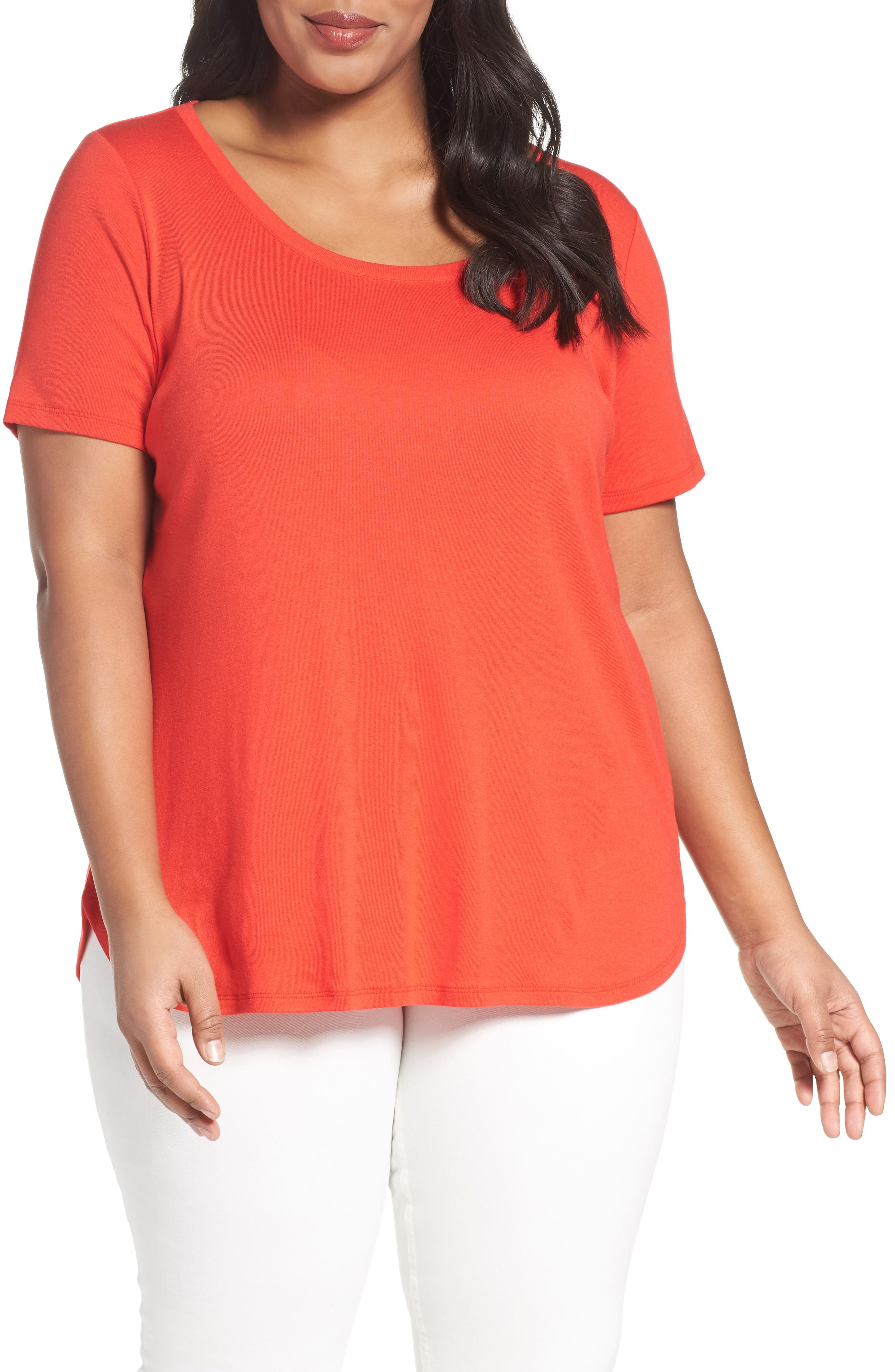 Scoop Neck Tee,                             Main thumbnail 10, color,