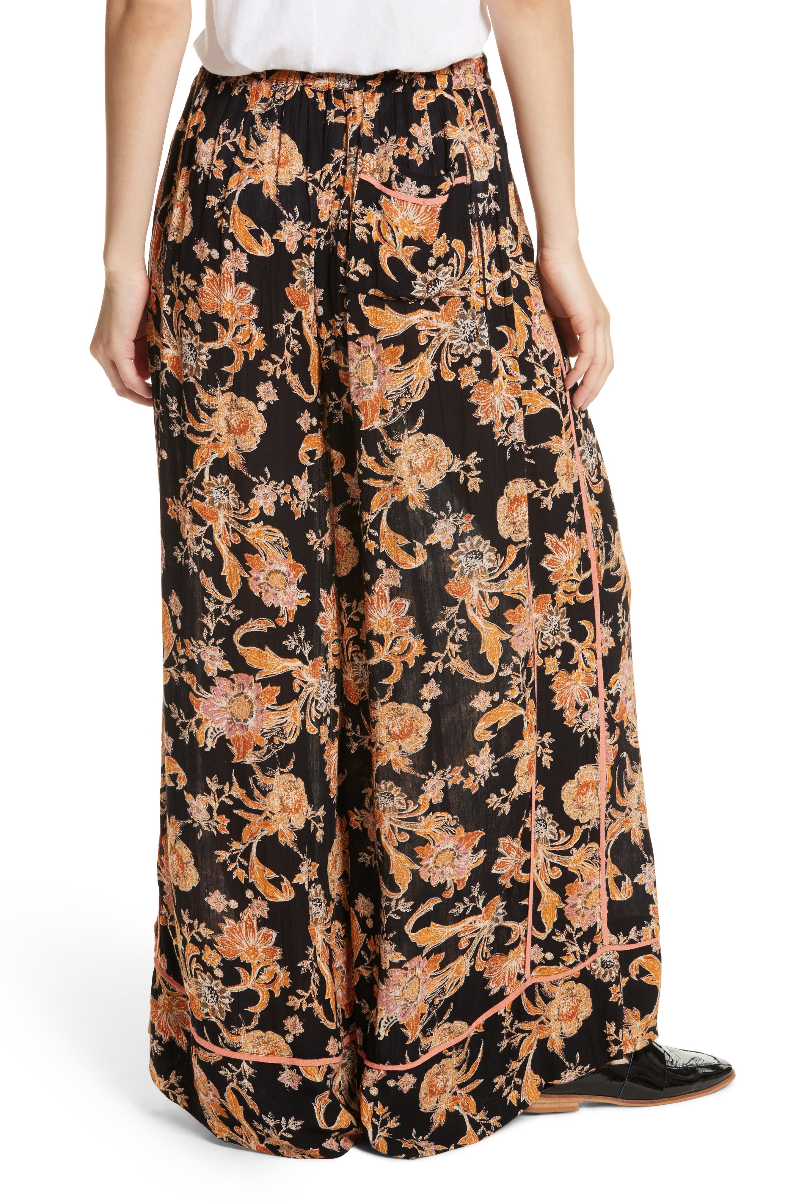 Bali Wildflower Wide Leg Pants,                             Alternate thumbnail 3, color,