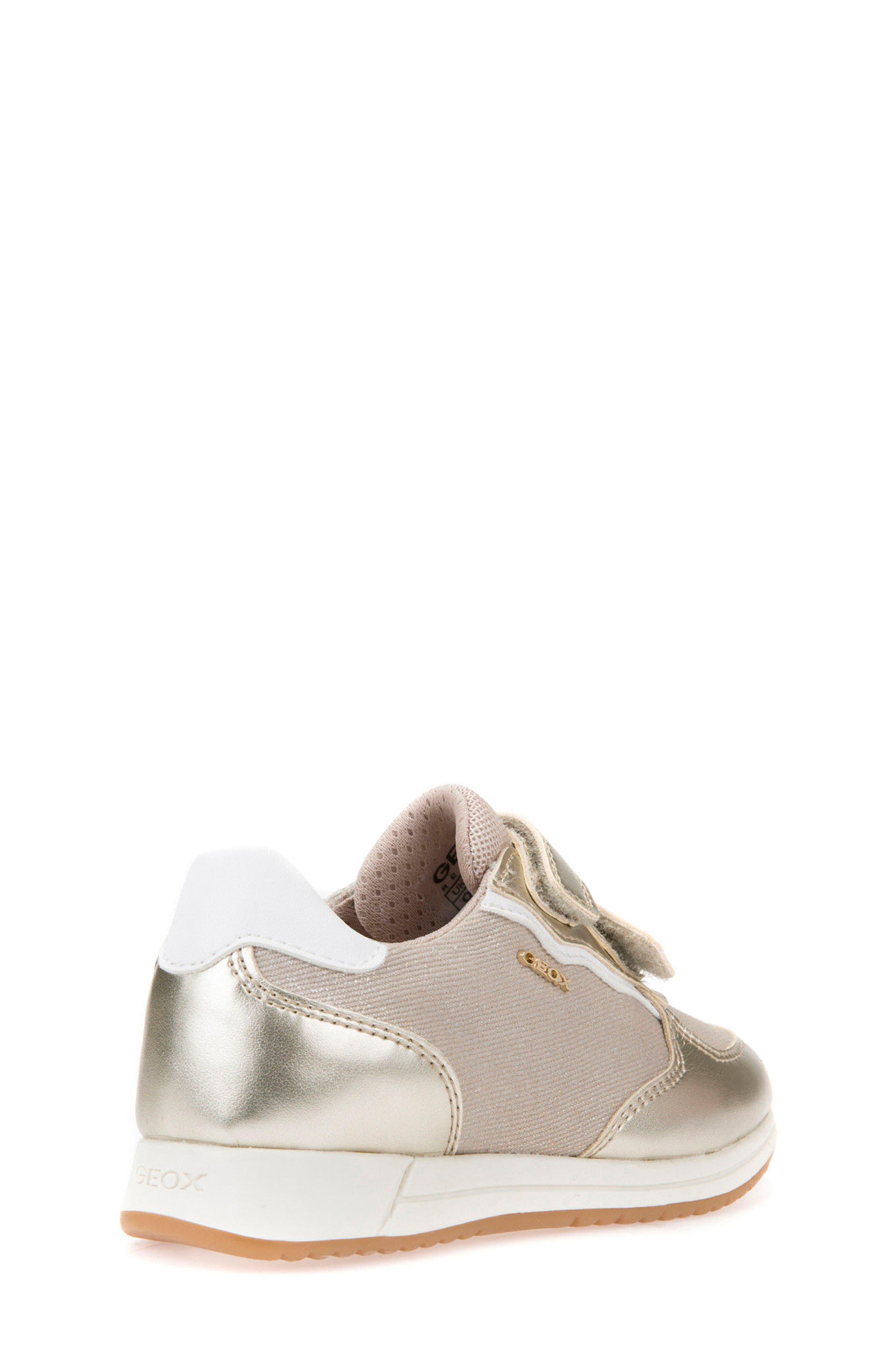 Jensea Metallic Accent Sneaker,                             Alternate thumbnail 2, color,                             BEIGE/ LIGHT GOLD