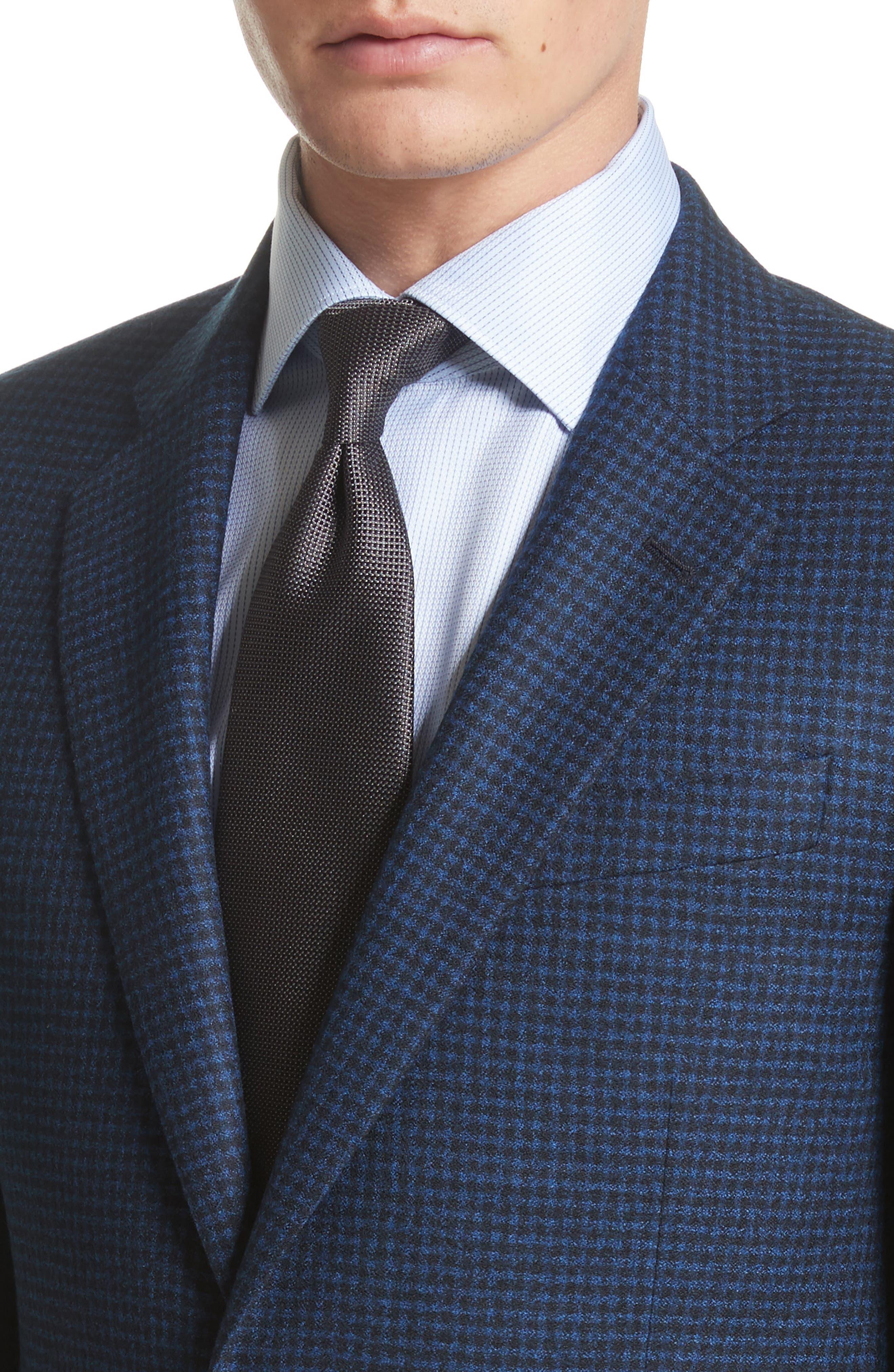 ARMANI COLLEZIONI,                             G-Line Trim Fit Check Wool Sport Coat,                             Alternate thumbnail 4, color,                             410