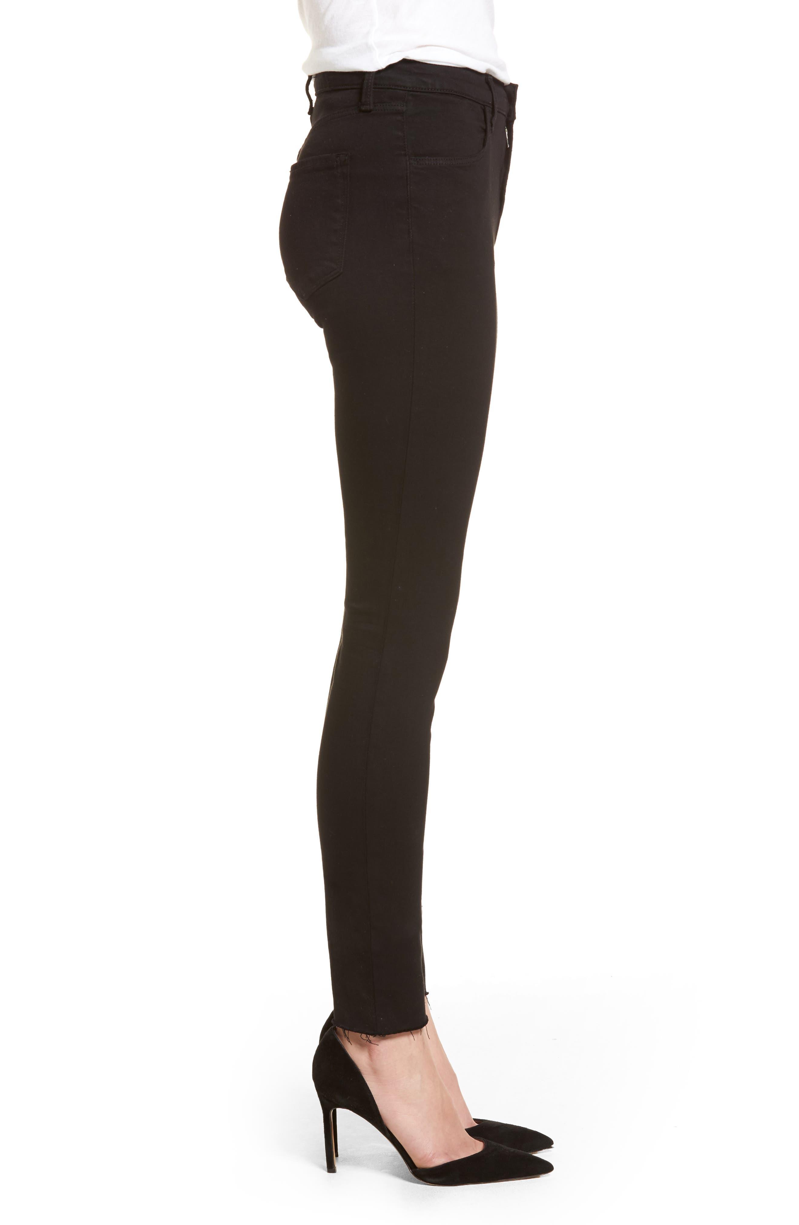 Maria High Waist Skinny Jeans,                             Alternate thumbnail 3, color,                             BLACK BASTILLE