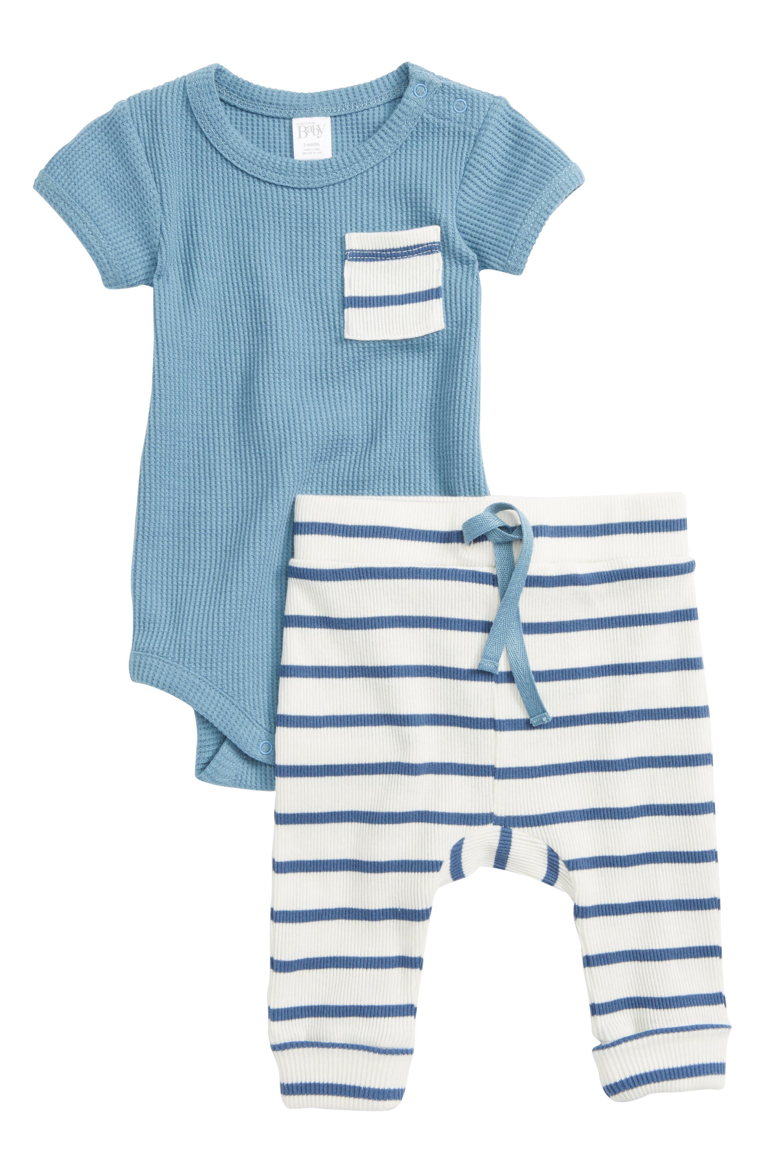 Waffle Knit Bodysuit & Pants Set,                         Main,                         color, 450