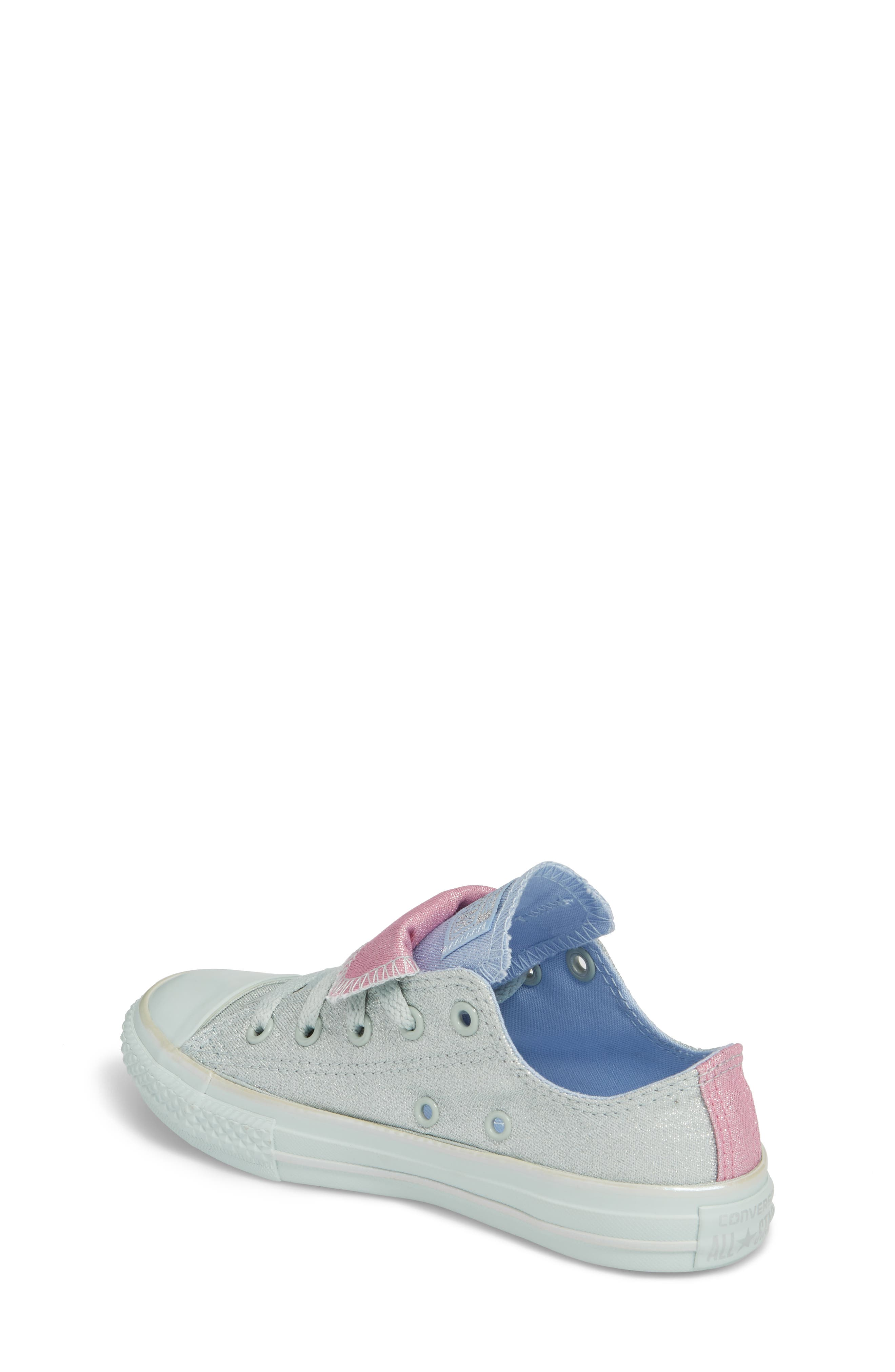 All Star<sup>®</sup> Shimmer Double Tongue Sneaker,                             Alternate thumbnail 2, color,                             301