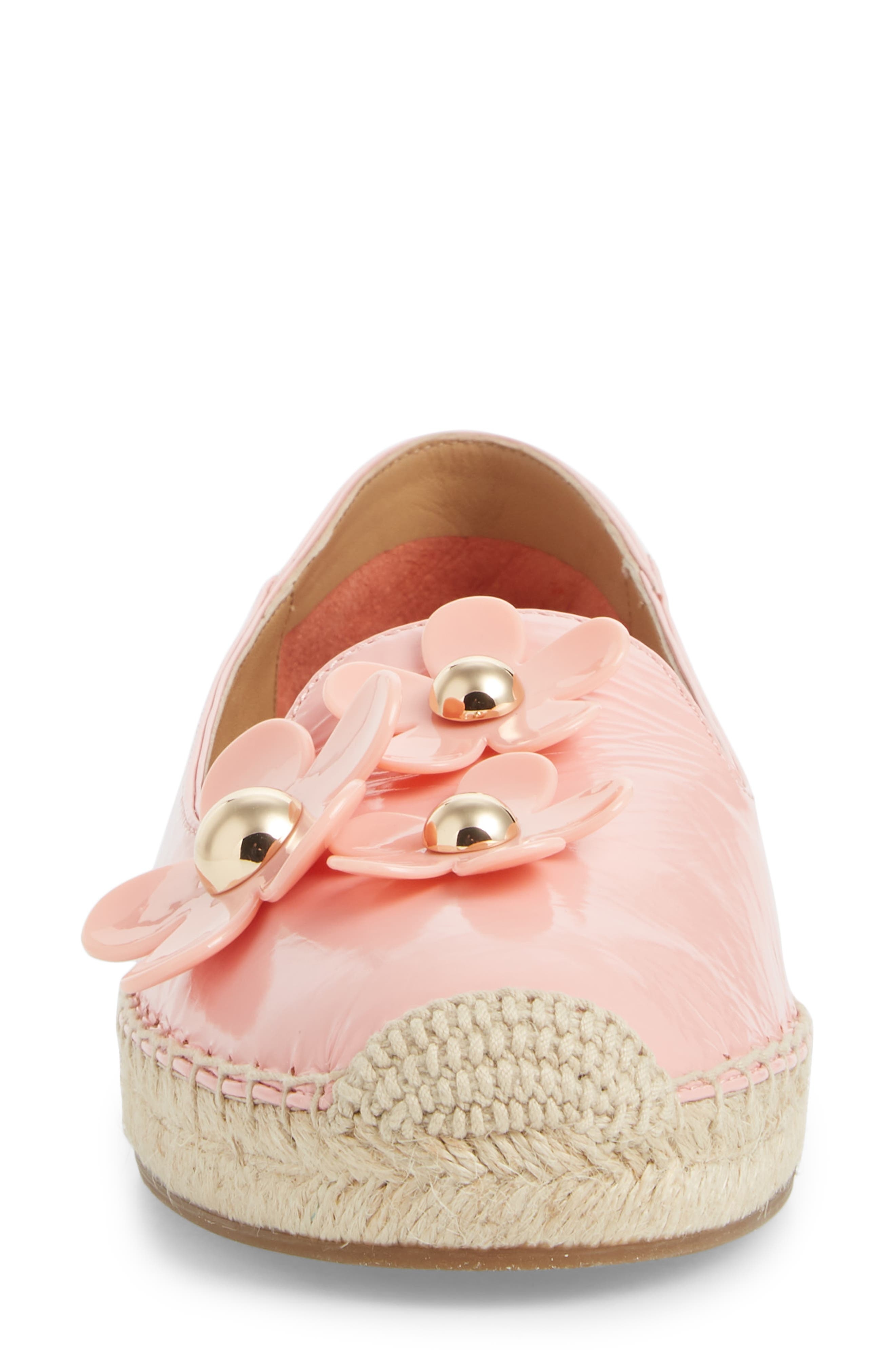Daisy Studded Espadrille,                             Alternate thumbnail 4, color,                             LIGHT PINK