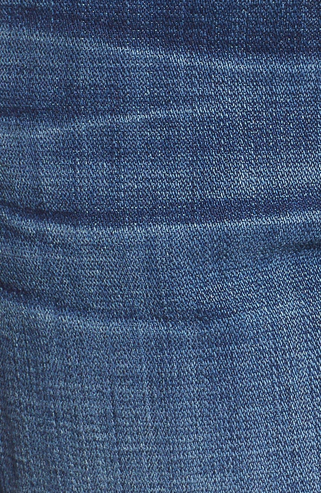 Relaxed High Rise Denim Shorts,                             Alternate thumbnail 3, color,                             400