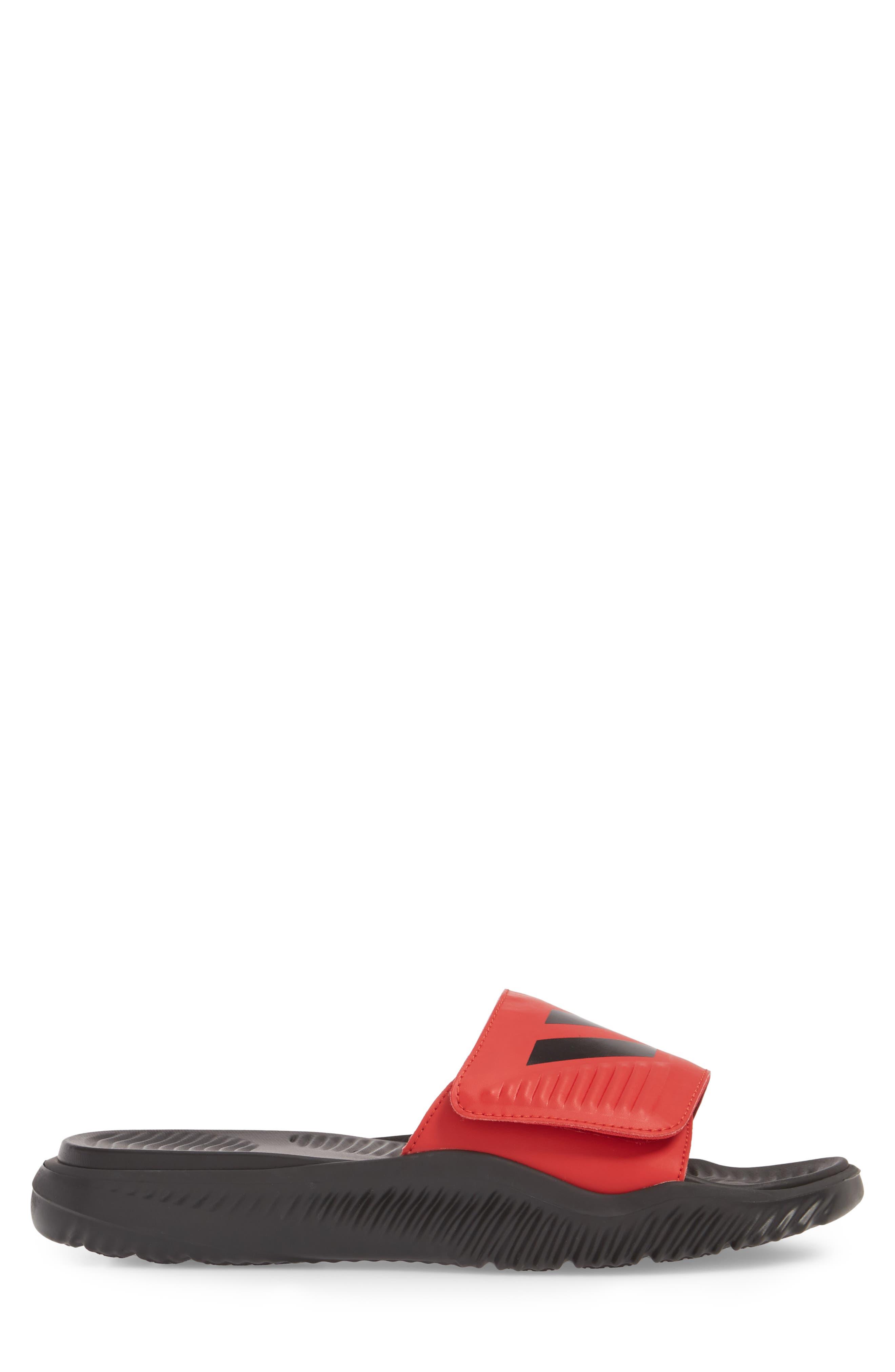 AlphaBounce Slide Sandal,                             Alternate thumbnail 3, color,                             SCARLET/ BLACK