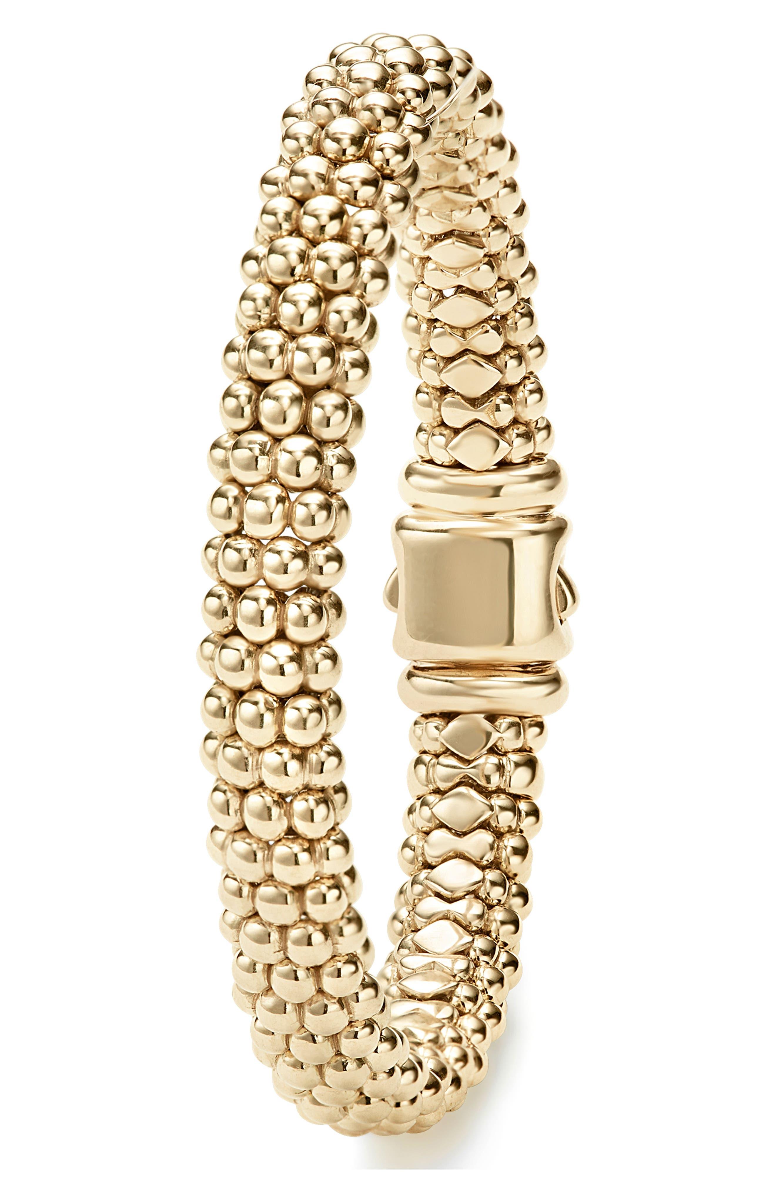 'Caviar Gold' Rope Bracelet,                             Alternate thumbnail 6, color,                             GOLD