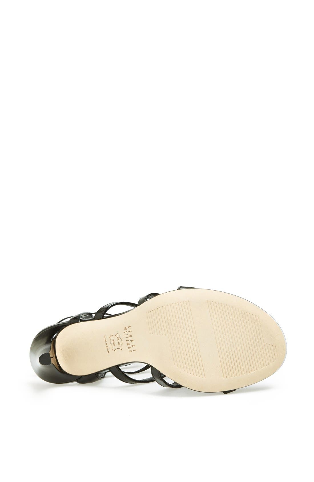 'Cleo' Sandal,                             Alternate thumbnail 3, color,                             001
