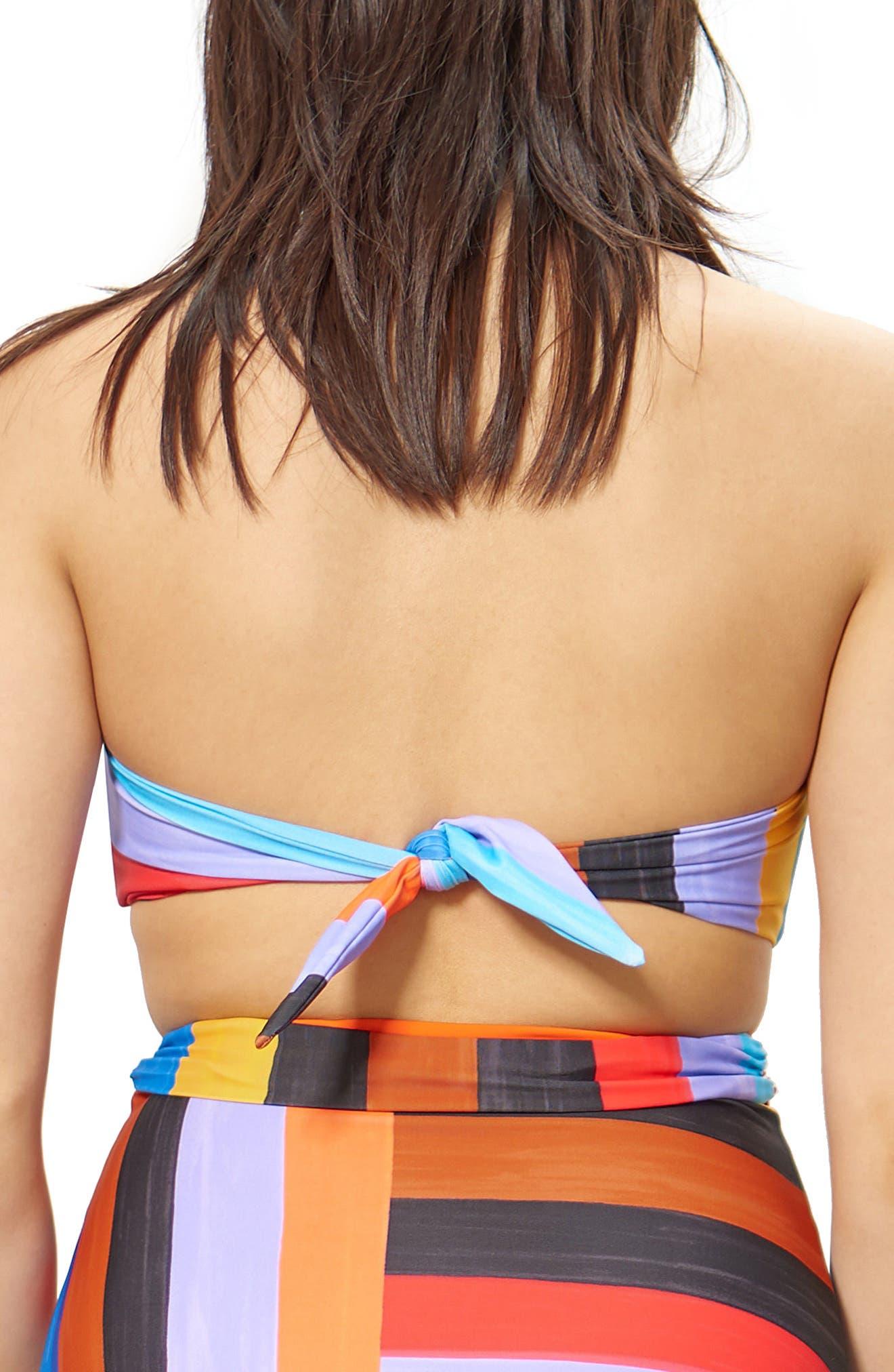 Abigail Bandeau Bikini Top,                             Alternate thumbnail 2, color,                             001