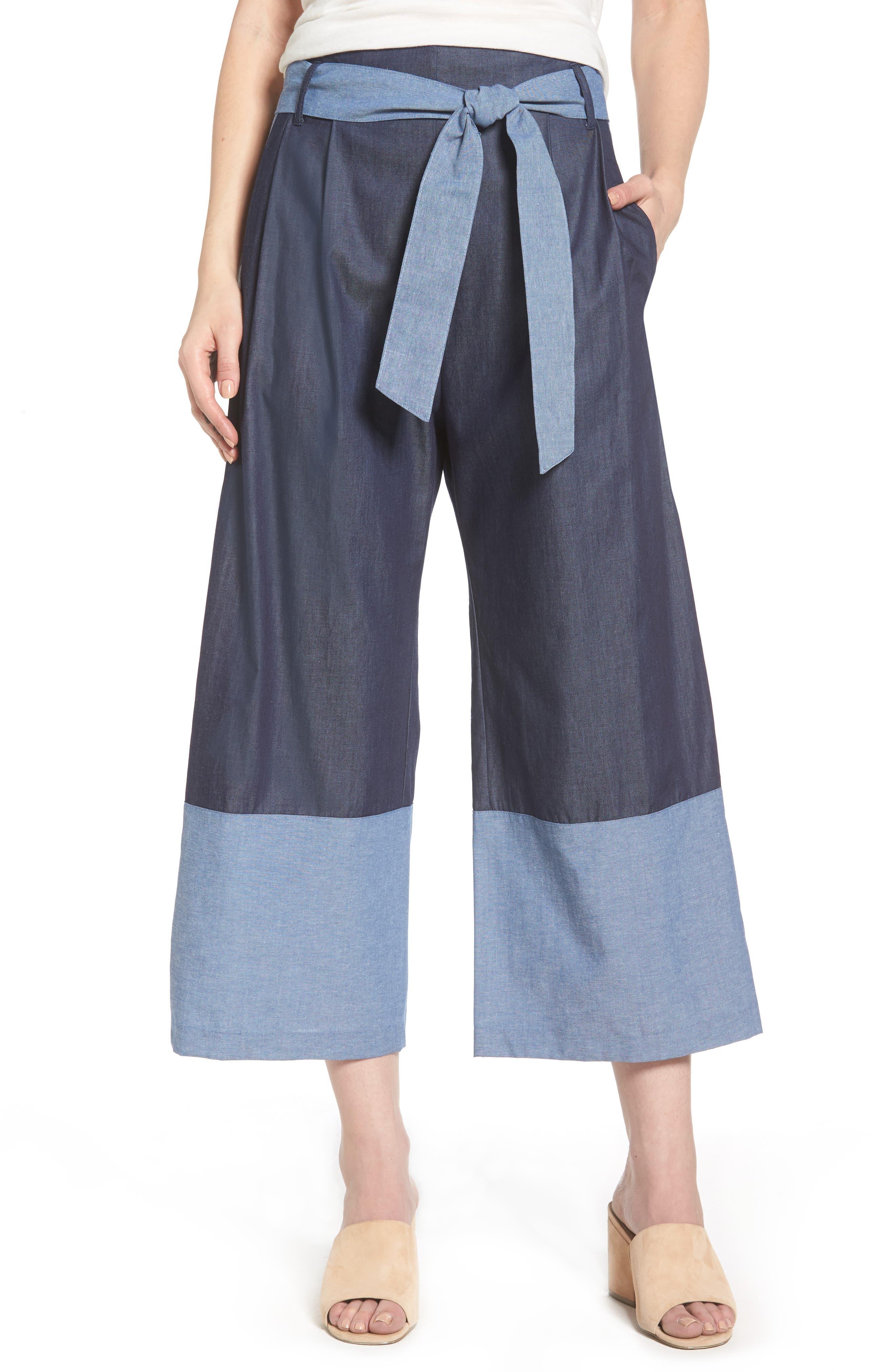 Jackson Chambray Pants,                         Main,                         color, 456