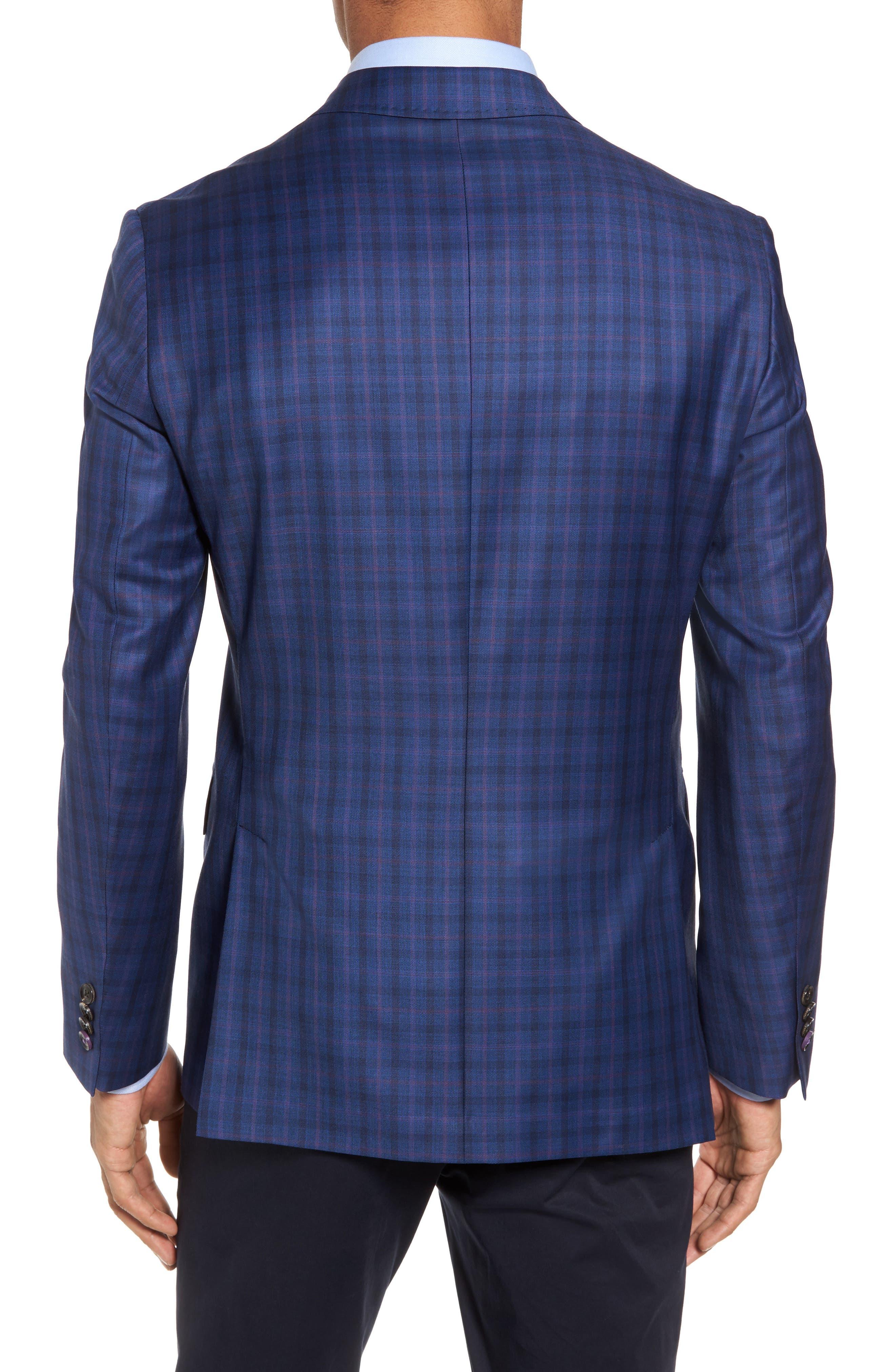 Konan Trim Fit Plaid Wool Sport Coat,                             Alternate thumbnail 2, color,                             400