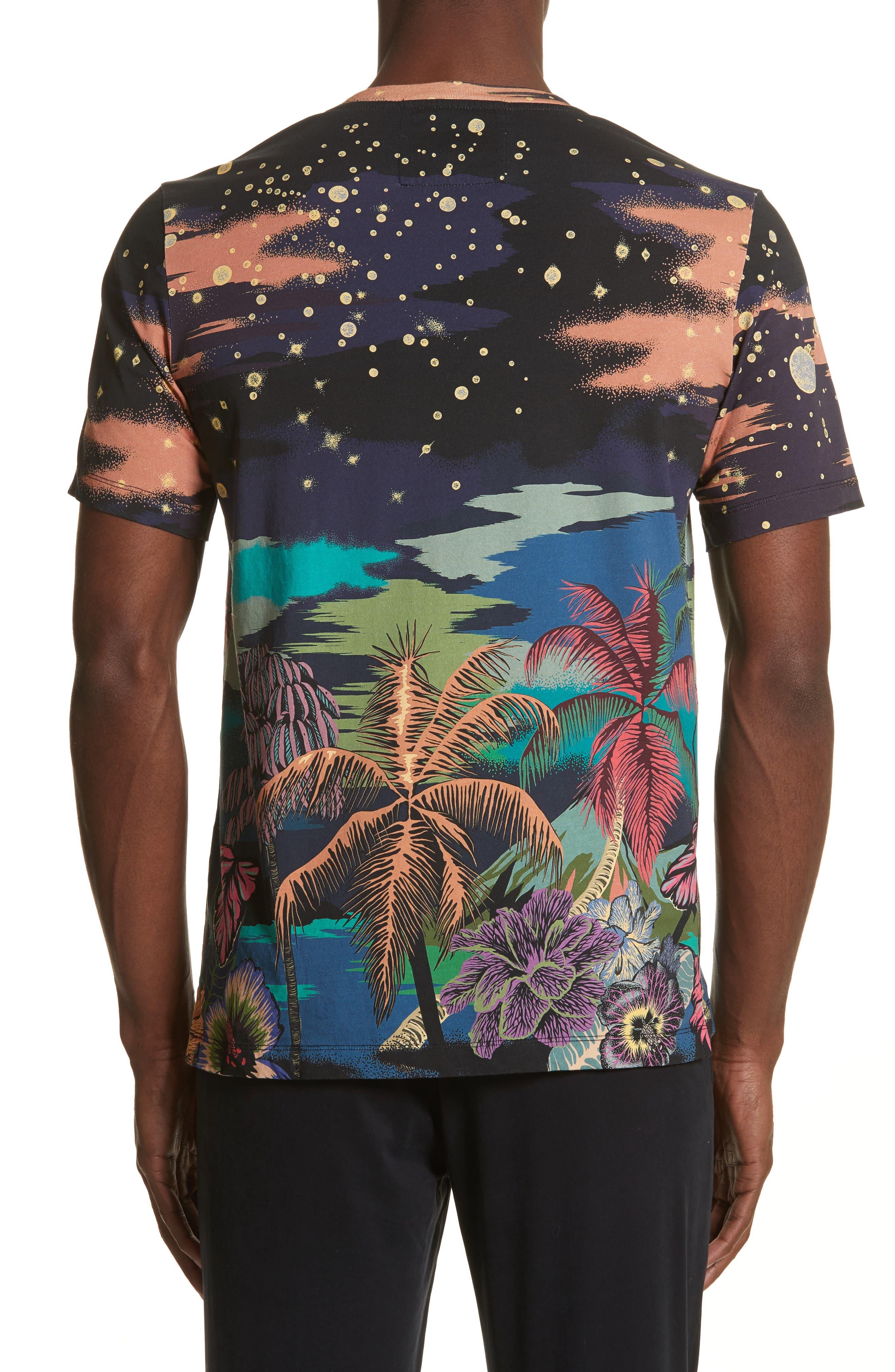 Palm Tree Print T-Shirt,                             Alternate thumbnail 2, color,                             400