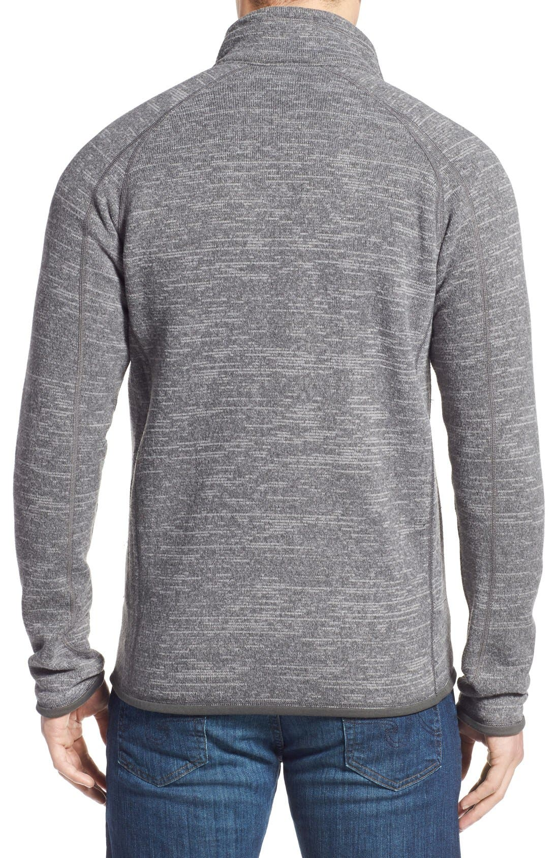 Better Sweater Zip Front Jacket,                             Alternate thumbnail 4, color,                             NICKEL/ FORGE GREY