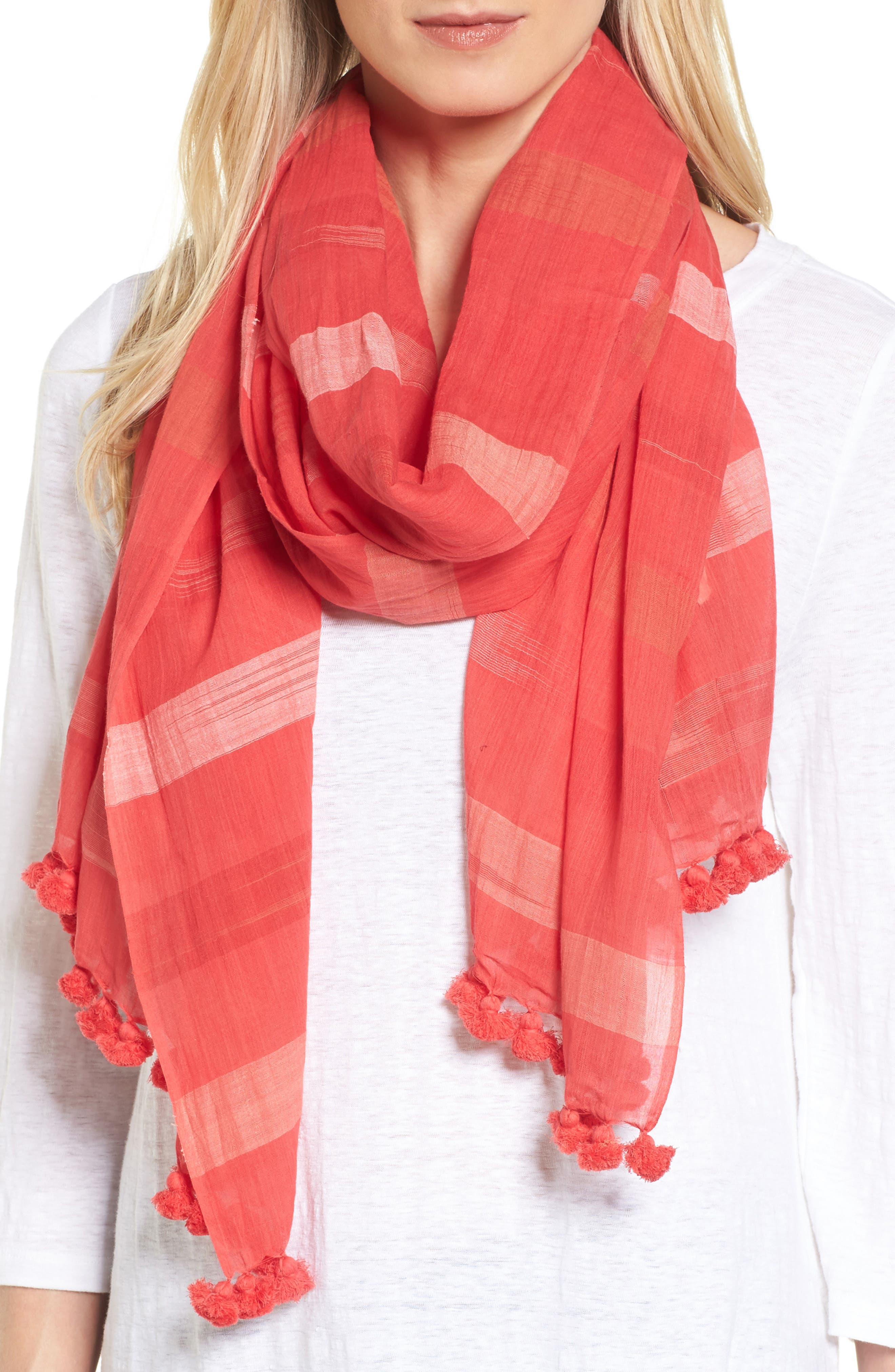 Organic Cotton Scarf,                         Main,                         color, 646