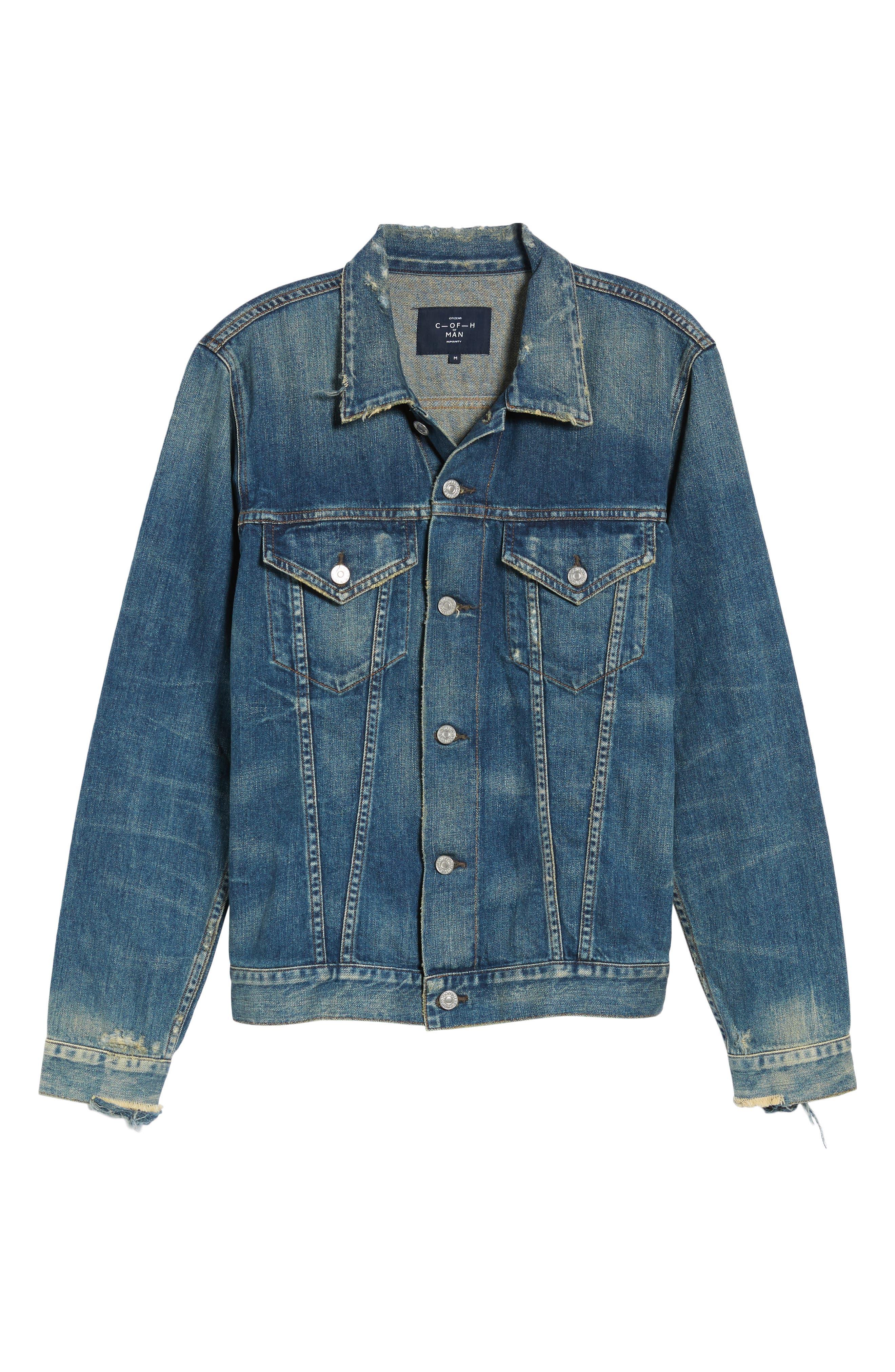Classic Selvedge Denim Jacket,                             Alternate thumbnail 2, color,                             479