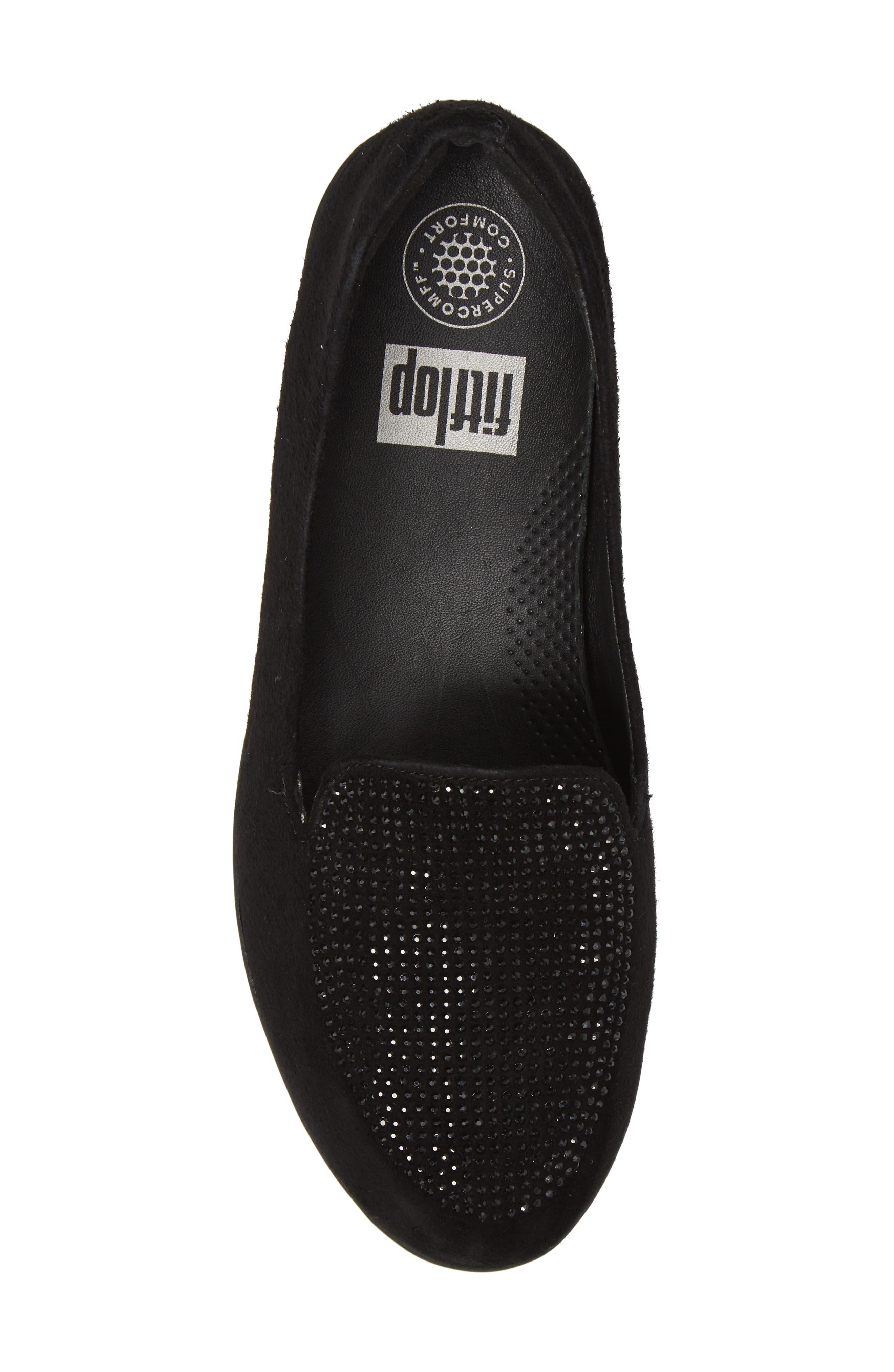 Sparkly Sneakerloafer Slip-On,                             Alternate thumbnail 5, color,                             001