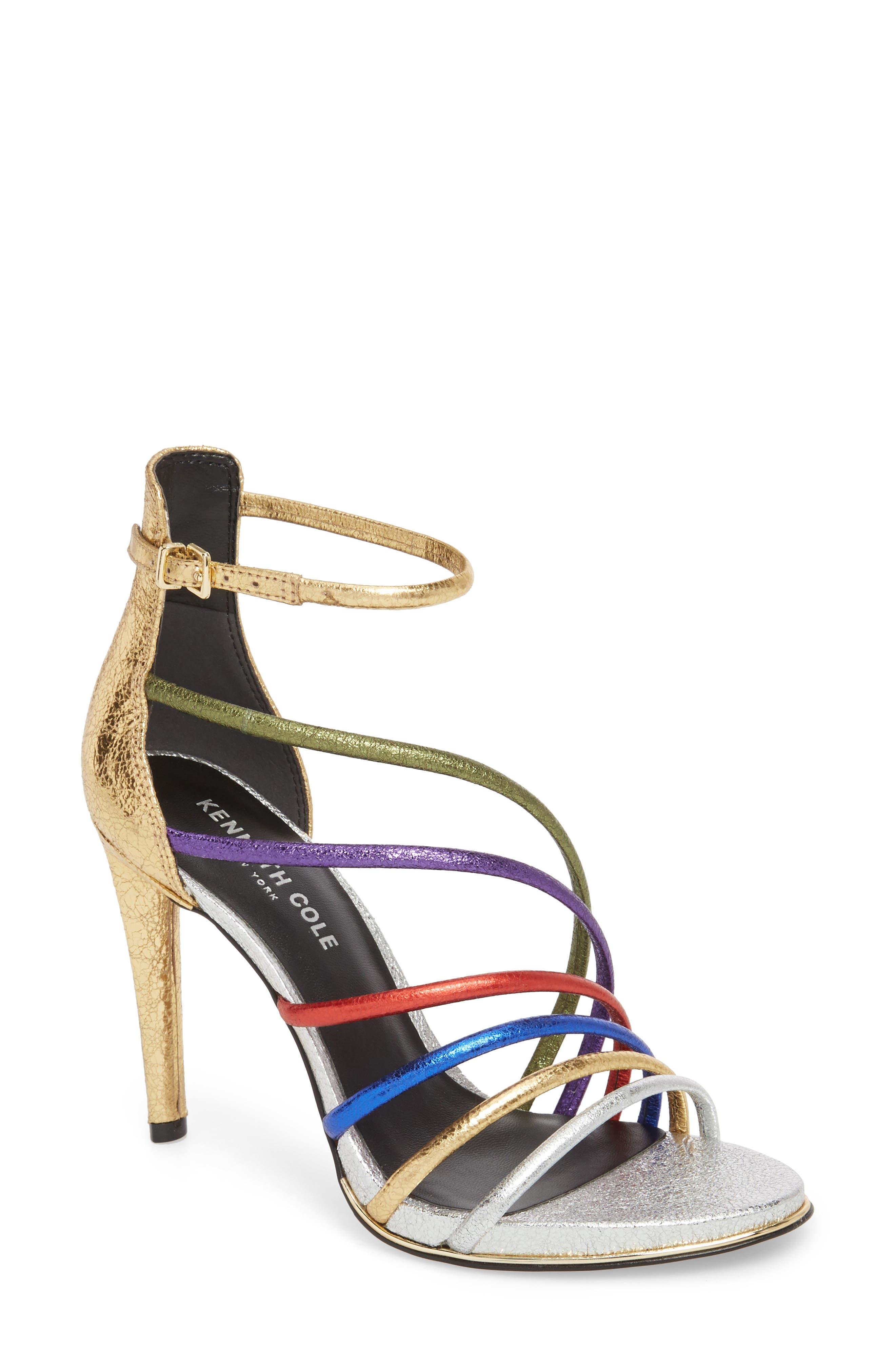 Barletta Asymmetrical Strappy Sandal,                         Main,                         color, MULTI LEATHER