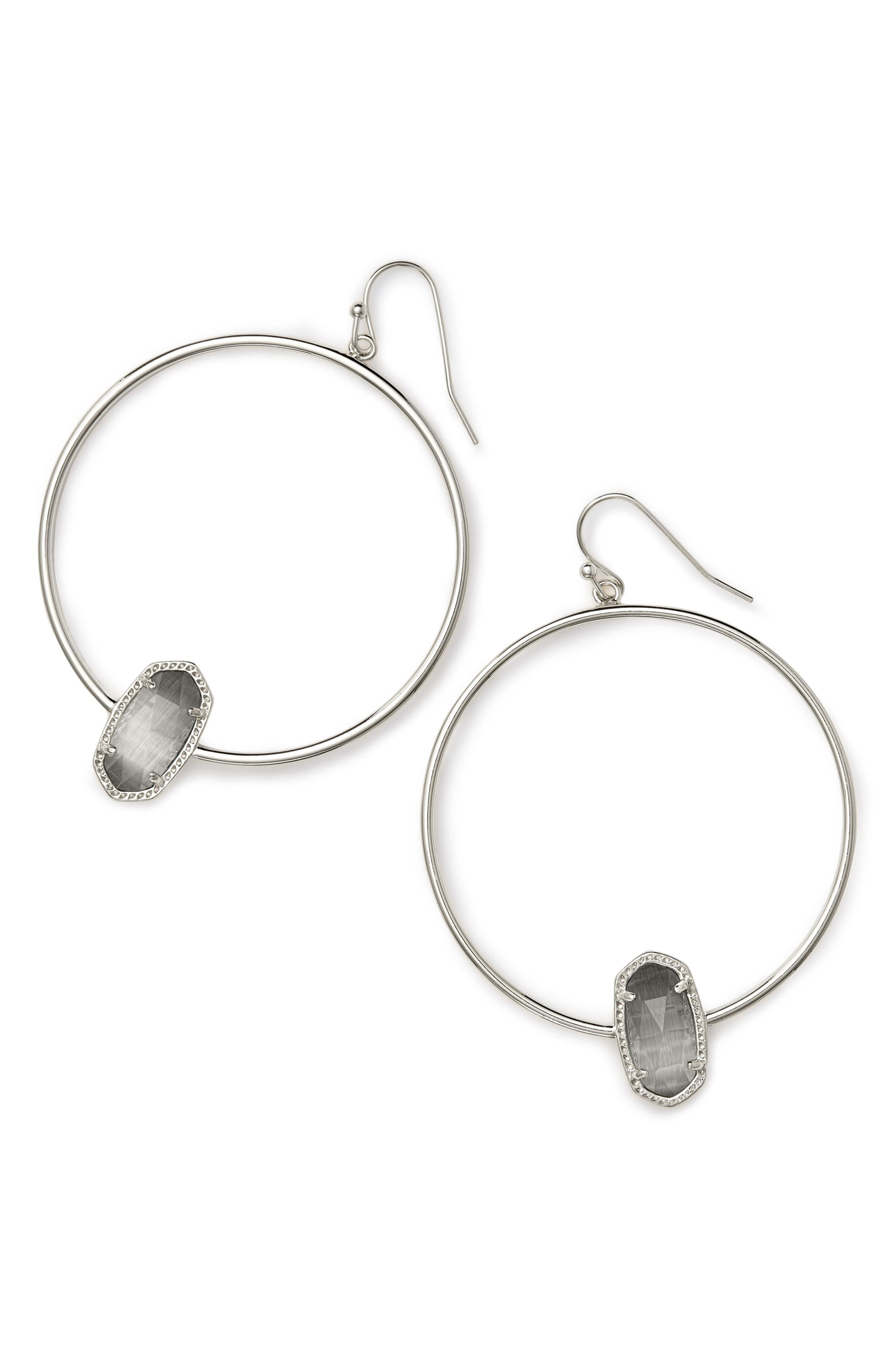 Elora Frontal Hoop Earrings,                             Main thumbnail 3, color,