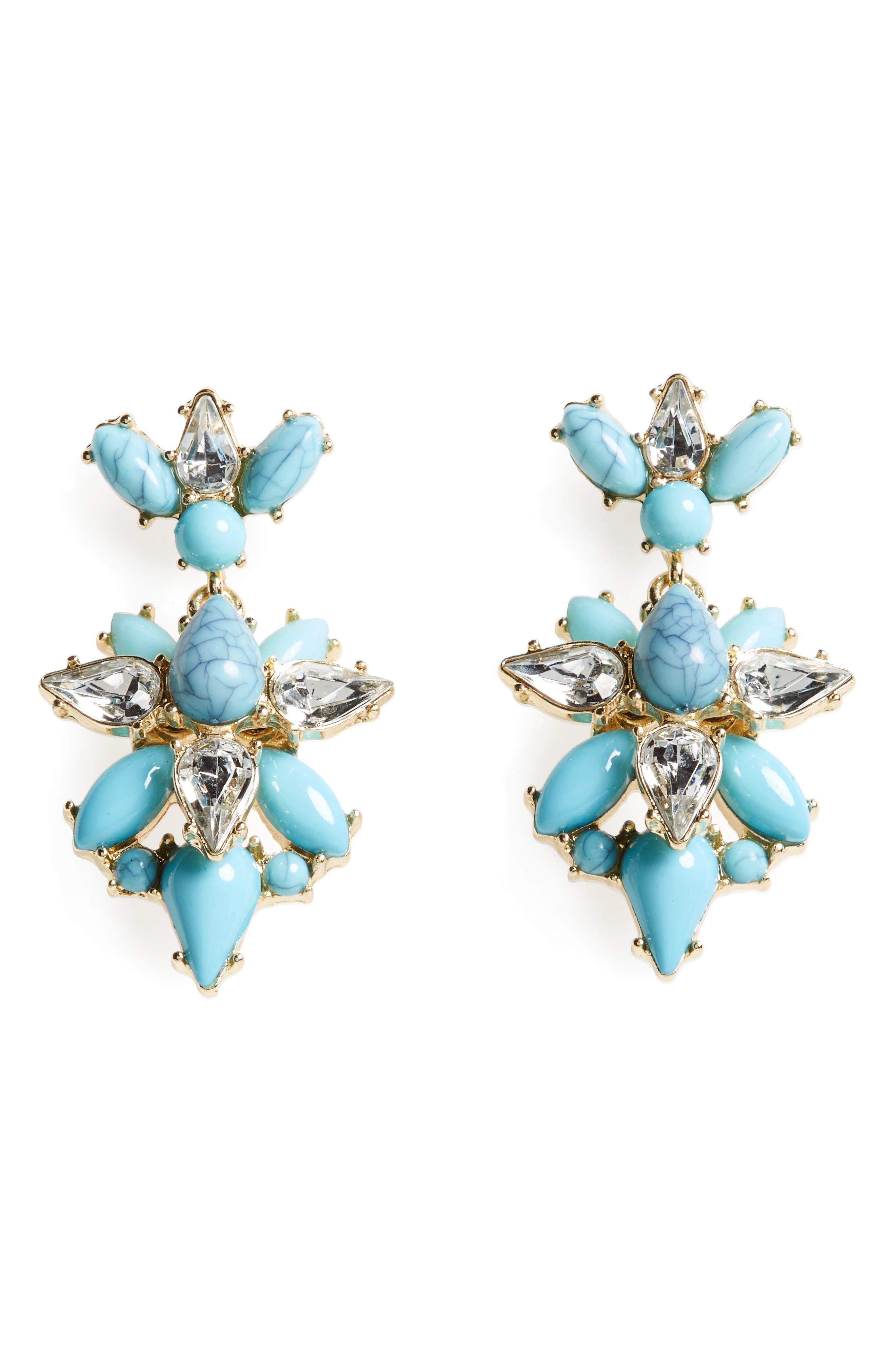 Bellflower Drop Earrings,                         Main,                         color, 400