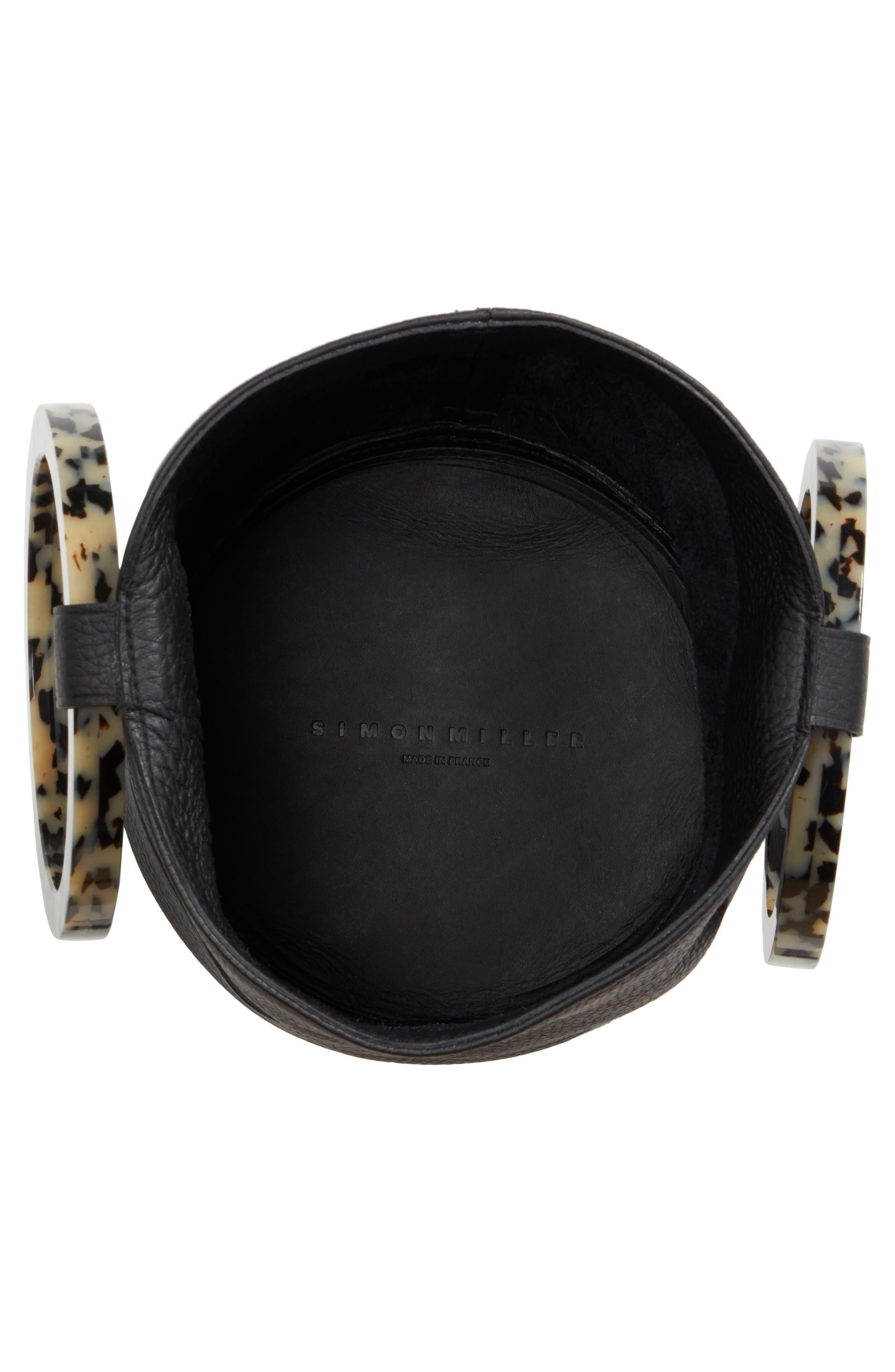 Bonsai 20 Pebbled Leather Bucket Bag,                             Alternate thumbnail 4, color,                             001