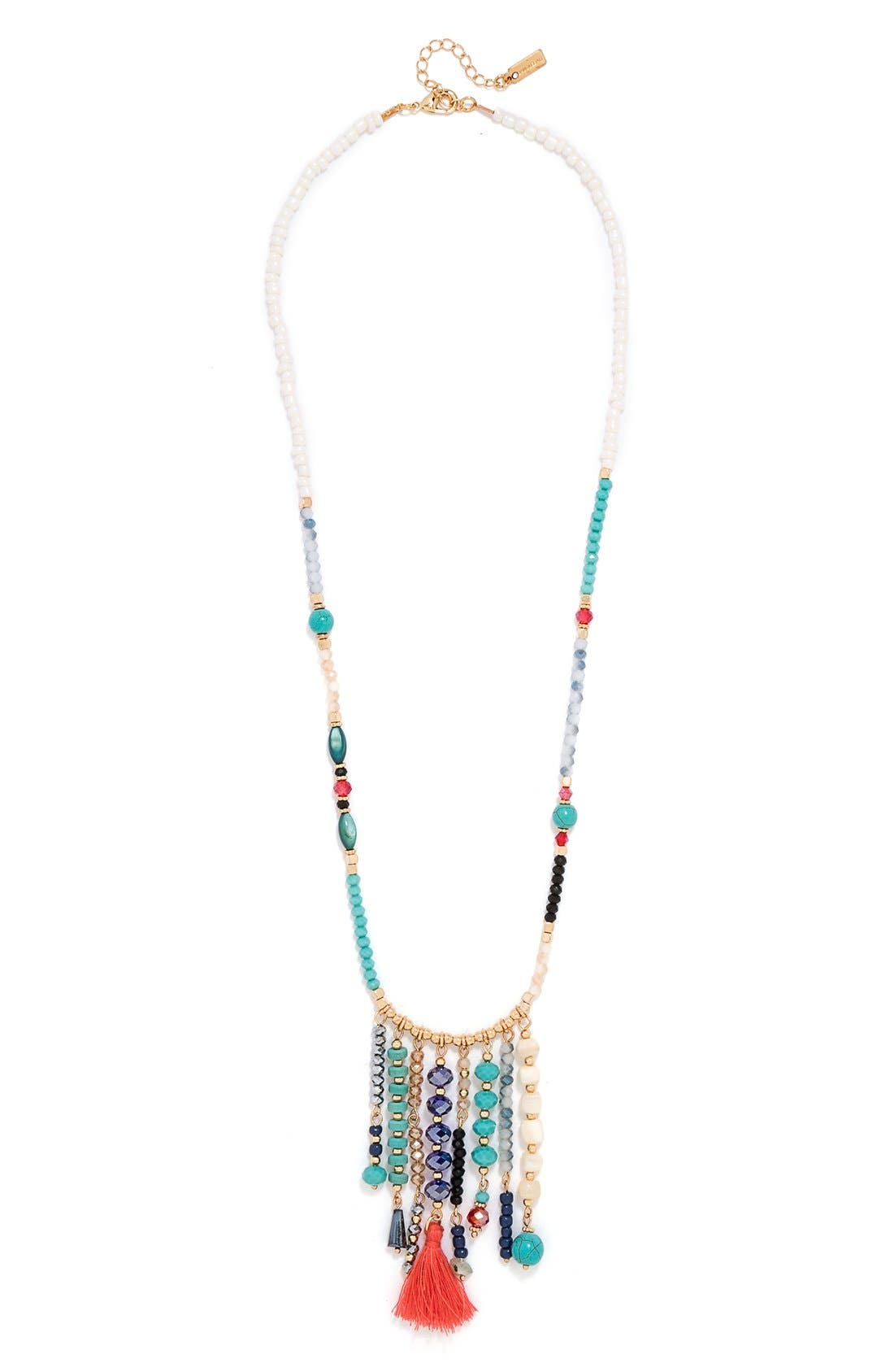 'Congo' Beaded Tassel Necklace,                             Alternate thumbnail 3, color,