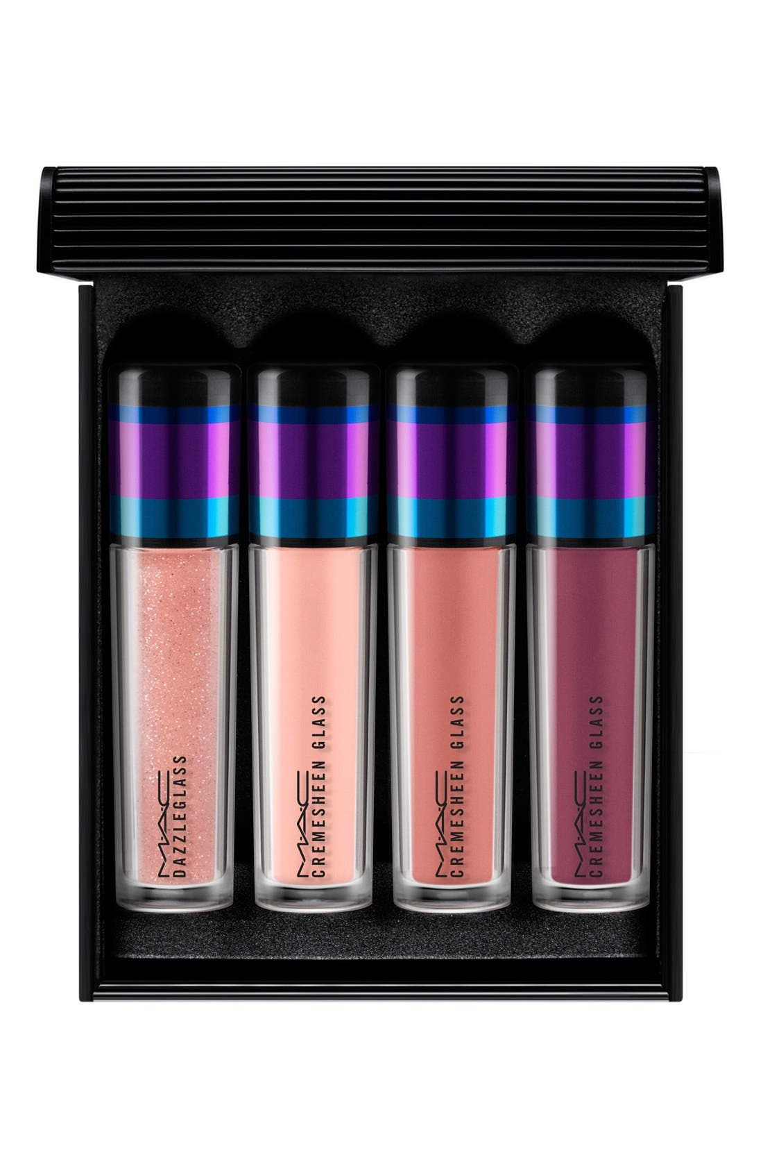 M·A·C 'Irresistibly Charming - Nude' Mini Lip Gloss Set,                             Main thumbnail 1, color,                             250