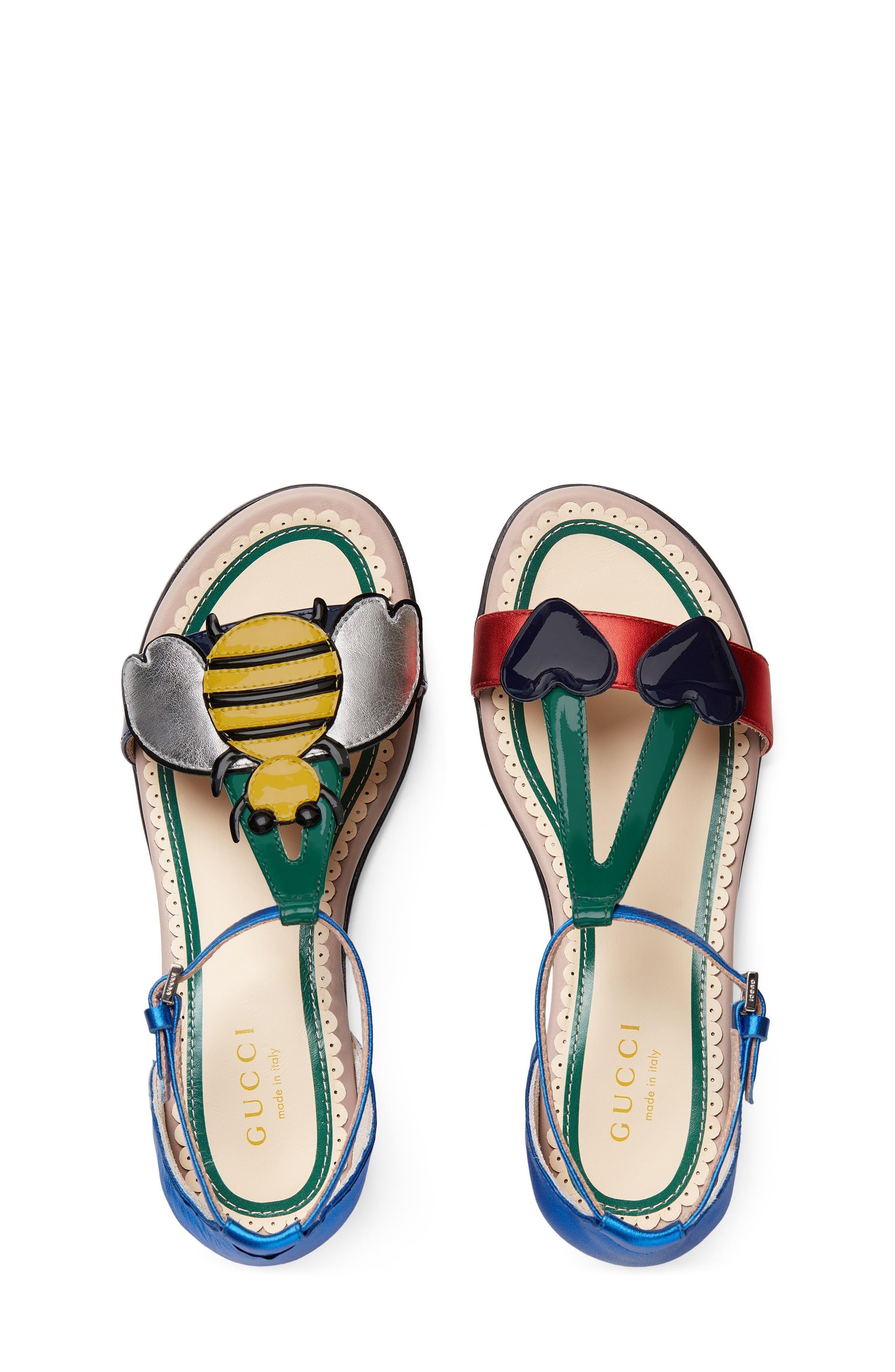 Bee Cerise Sandal,                             Alternate thumbnail 3, color,                             400