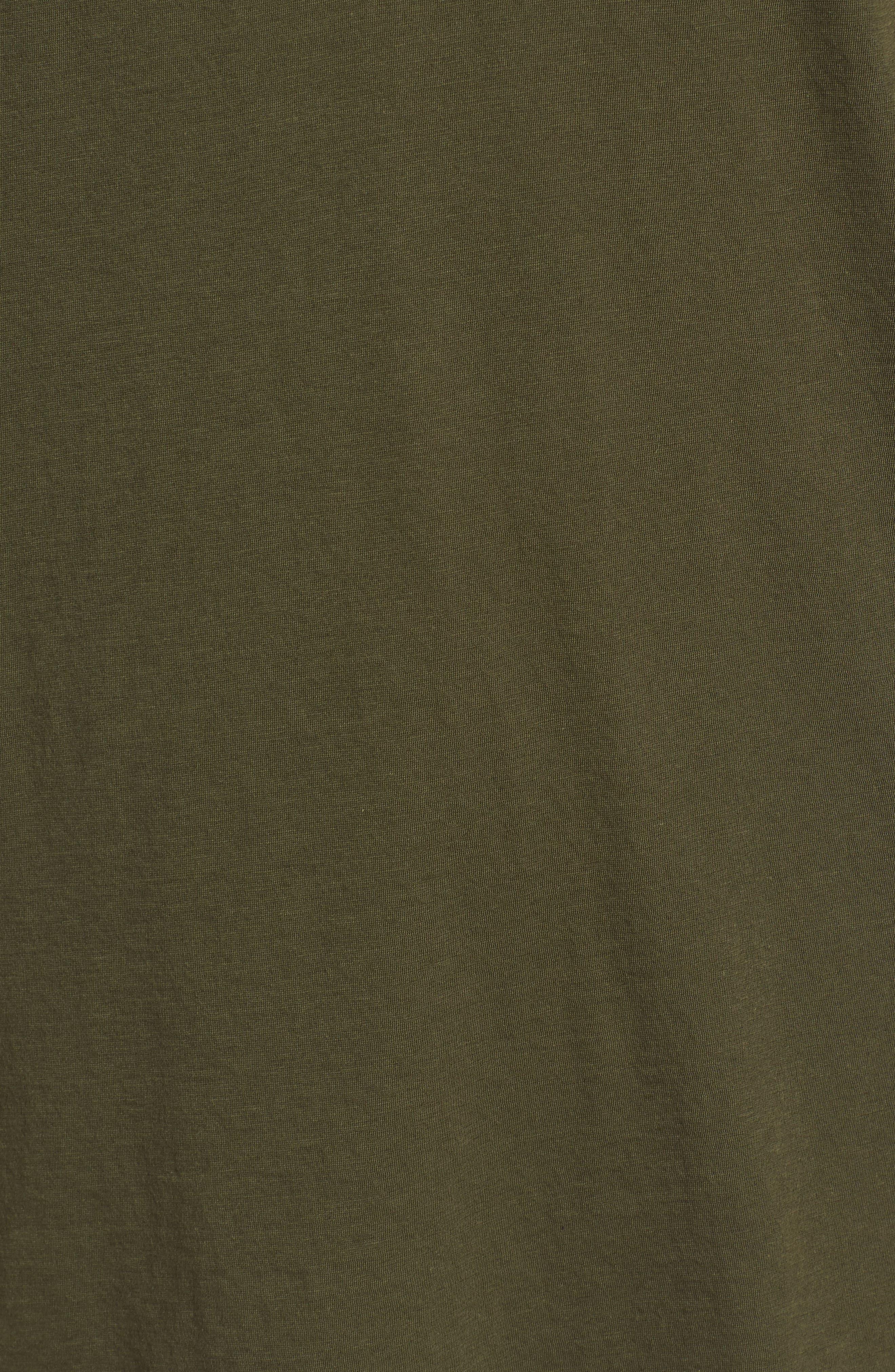 Layered Henley T-Shirt,                             Alternate thumbnail 5, color,                             FOLIAGE