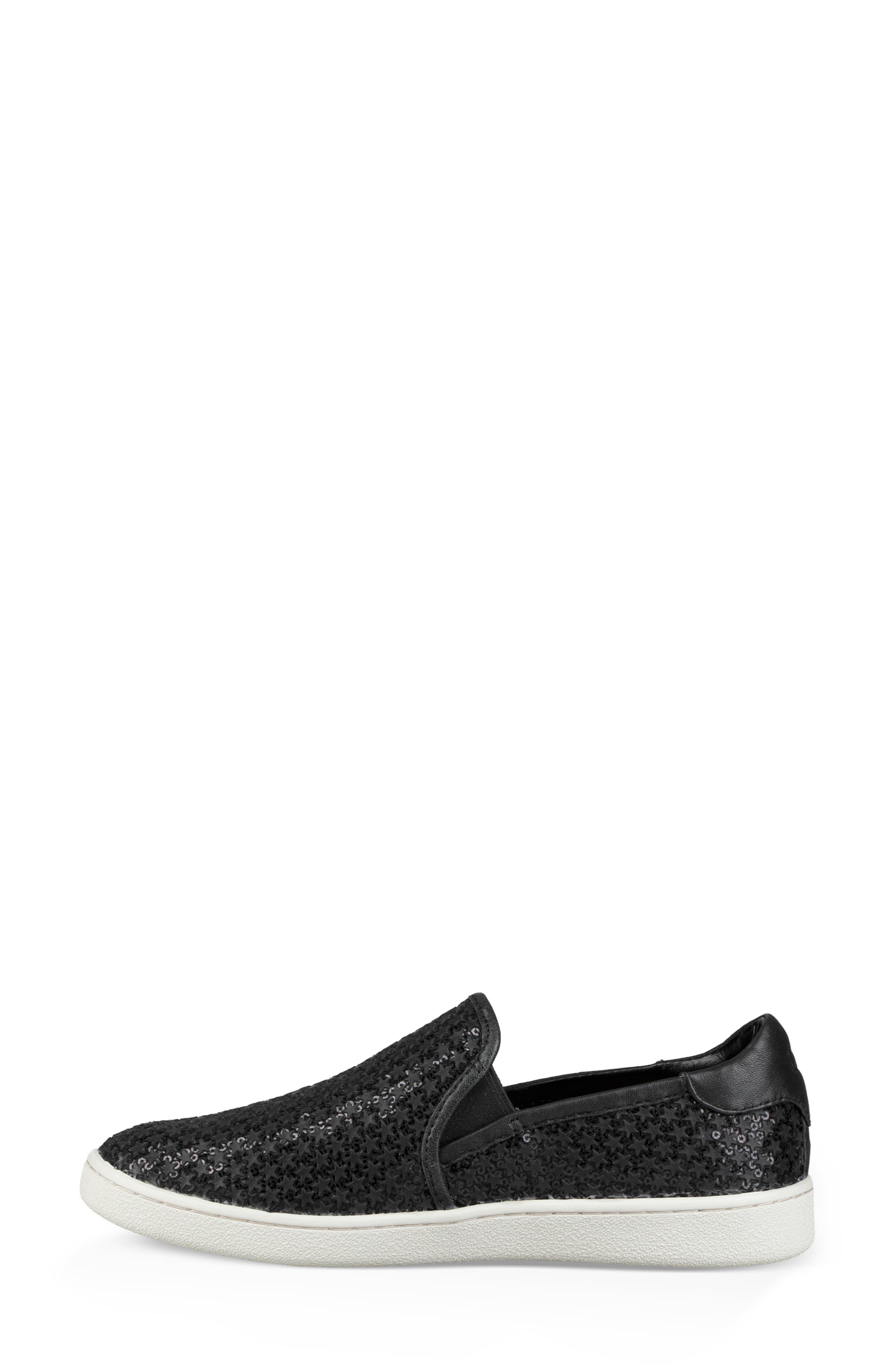 Cas Glitter Sneaker,                             Alternate thumbnail 6, color,                             BLACK