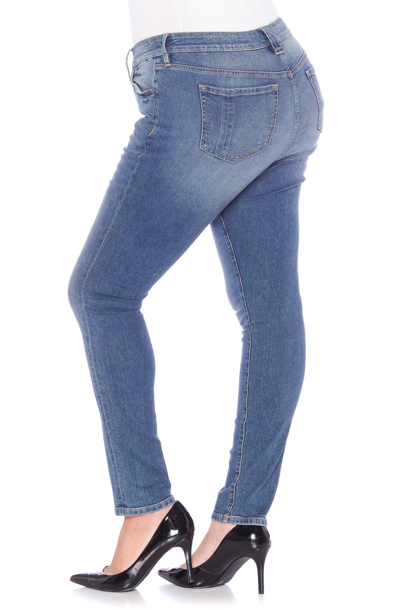 Skinny Jeans,                             Alternate thumbnail 3, color,                             VICTORIA
