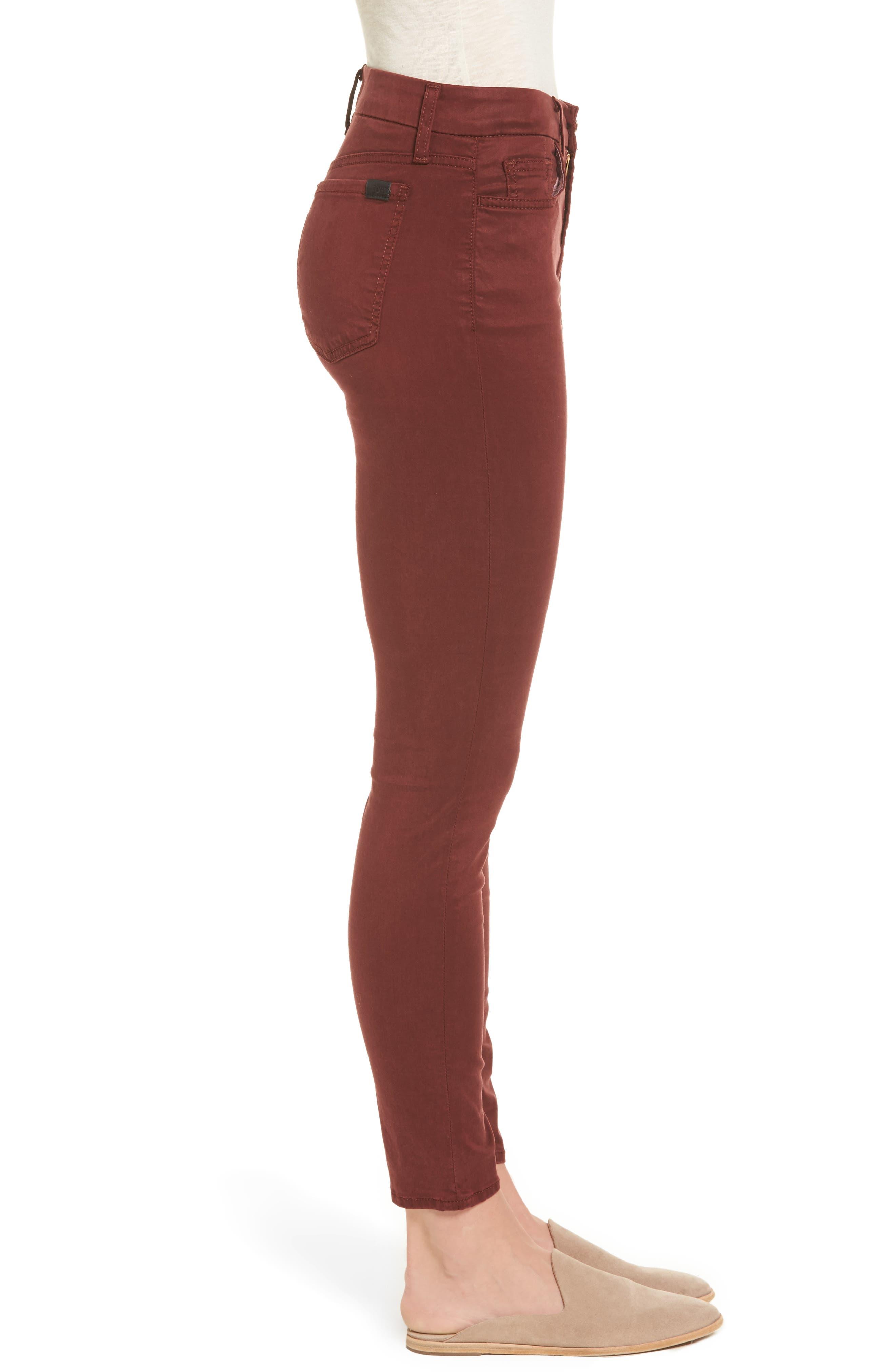 Sateen Skinny Ankle Jeans,                             Alternate thumbnail 3, color,                             201