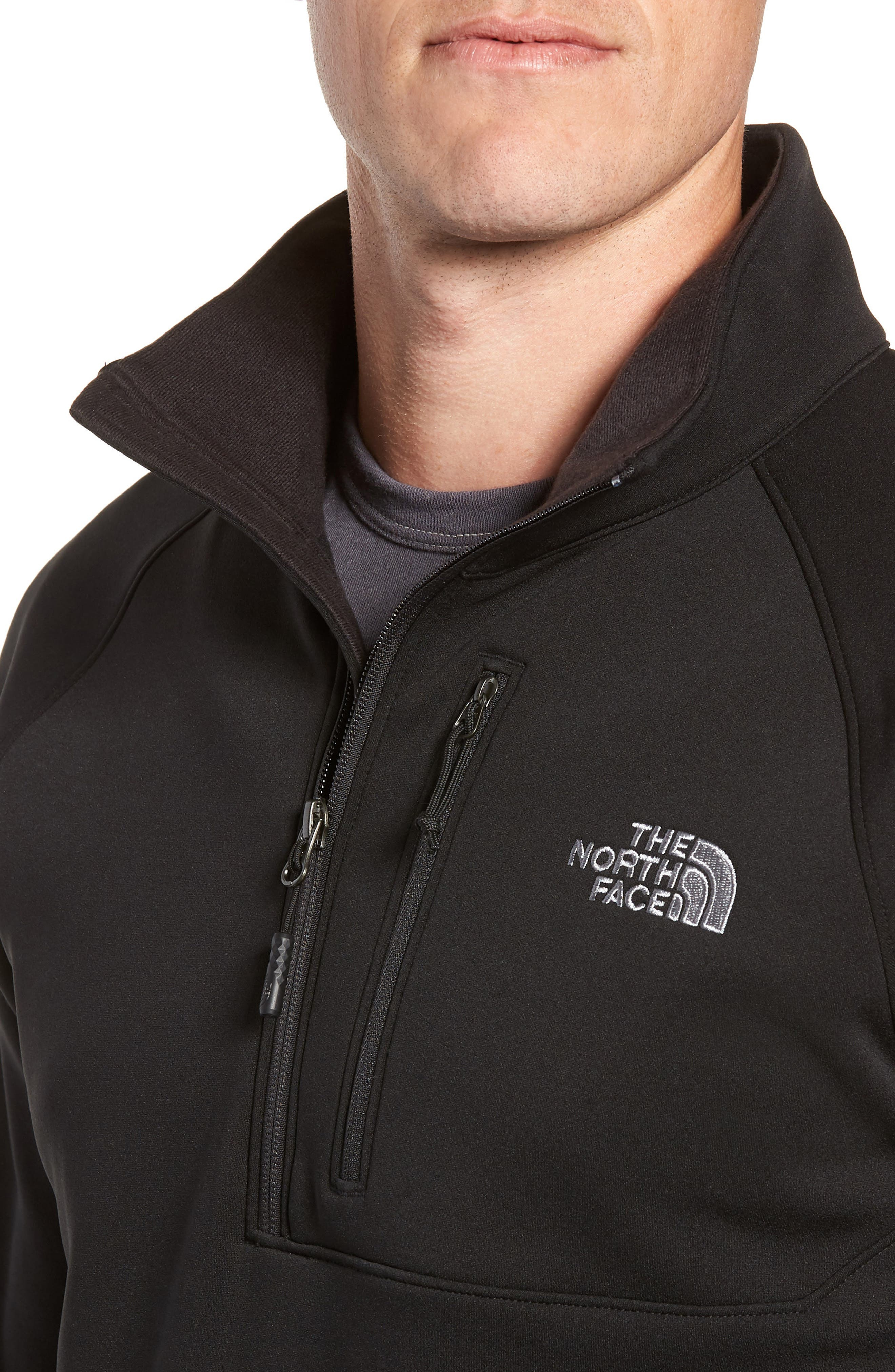 THE NORTH FACE,                             Tenacious Quarter Zip Pullover,                             Alternate thumbnail 4, color,                             001