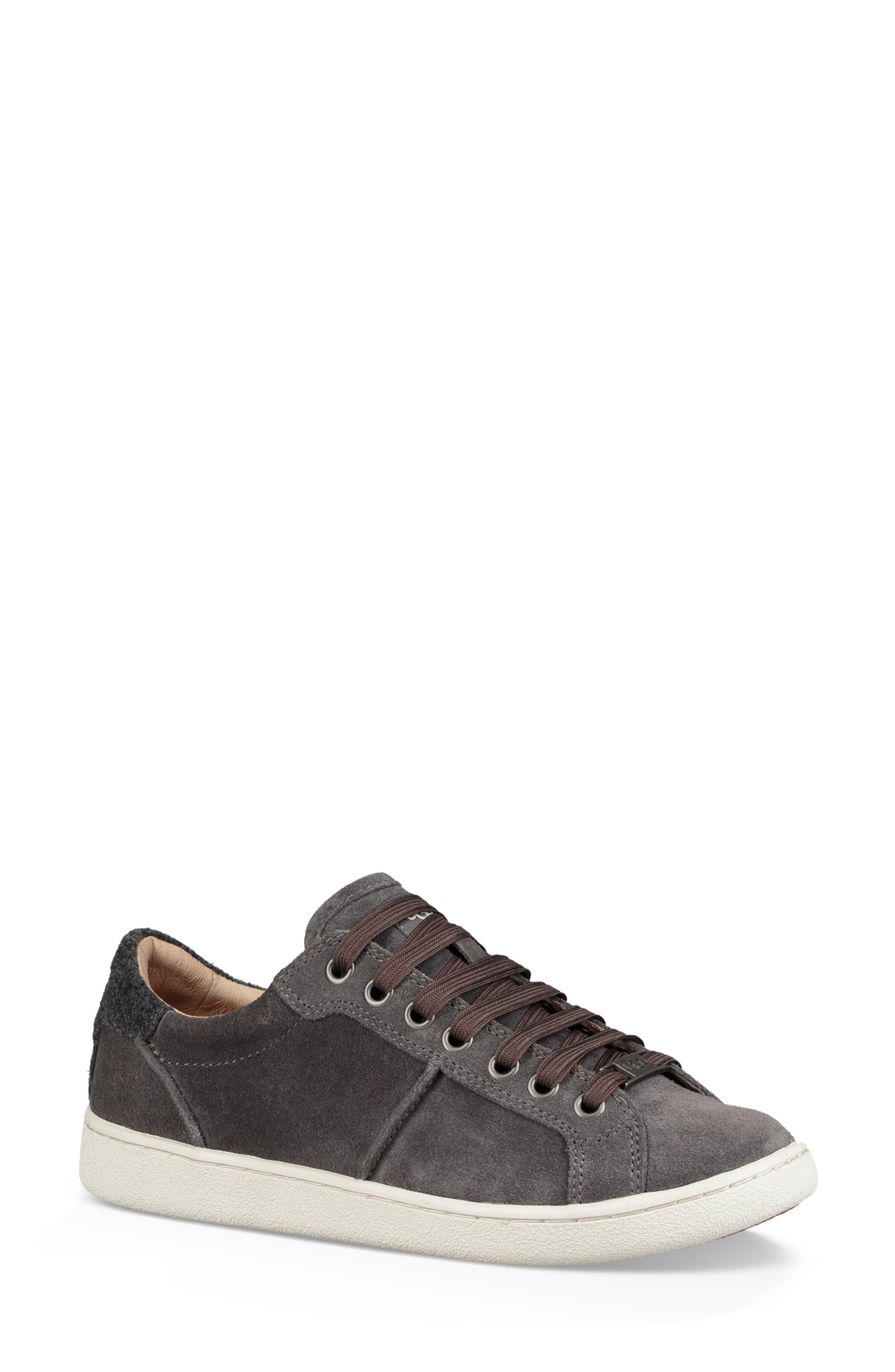 Milo Sneaker,                             Alternate thumbnail 7, color,                             CHARCOAL SUEDE