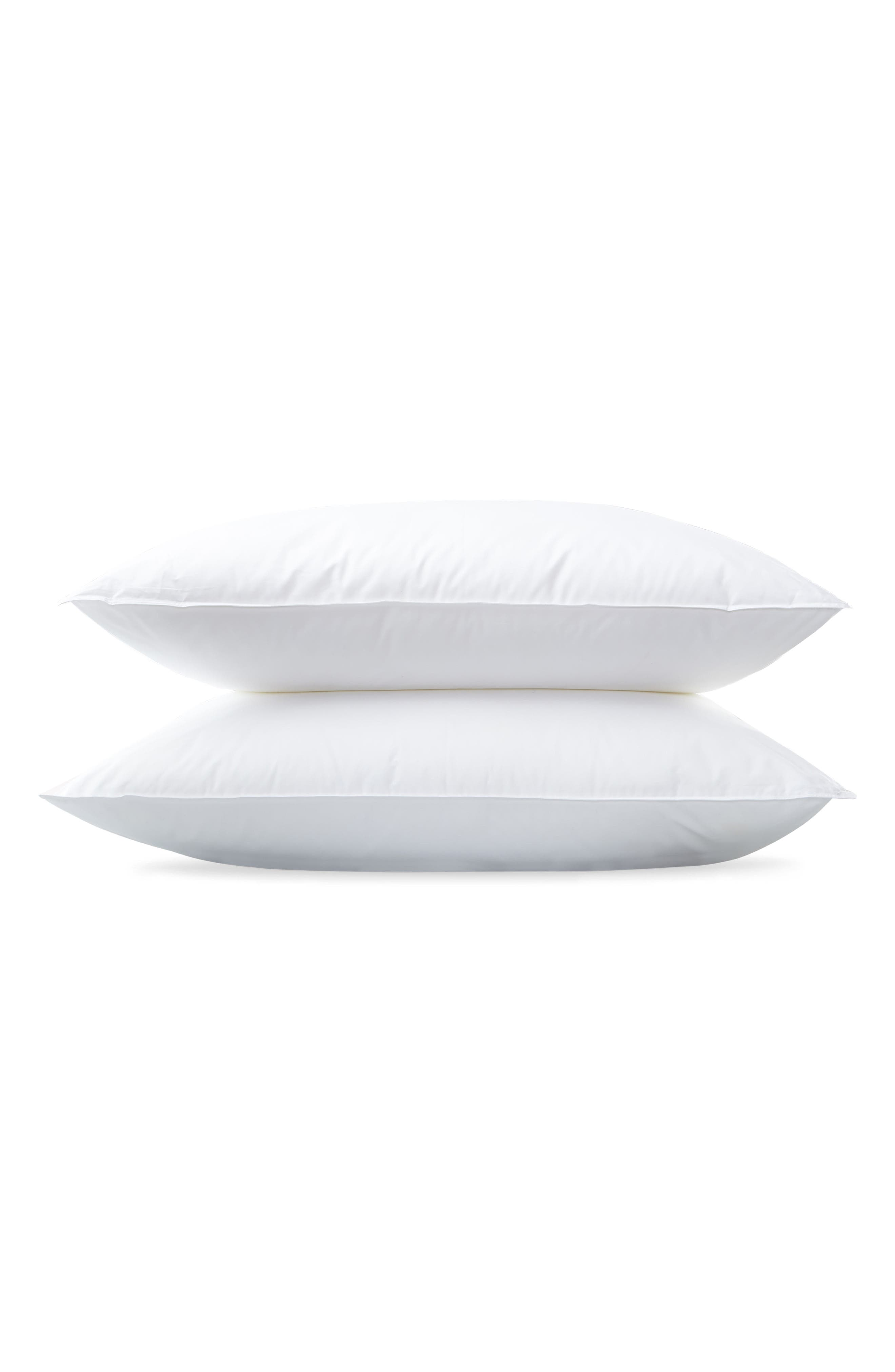 Montreux Three-Chamber 600 Fill Power Down & Feather 280 Thread Count Pillow,                             Main thumbnail 1, color,                             WHITE