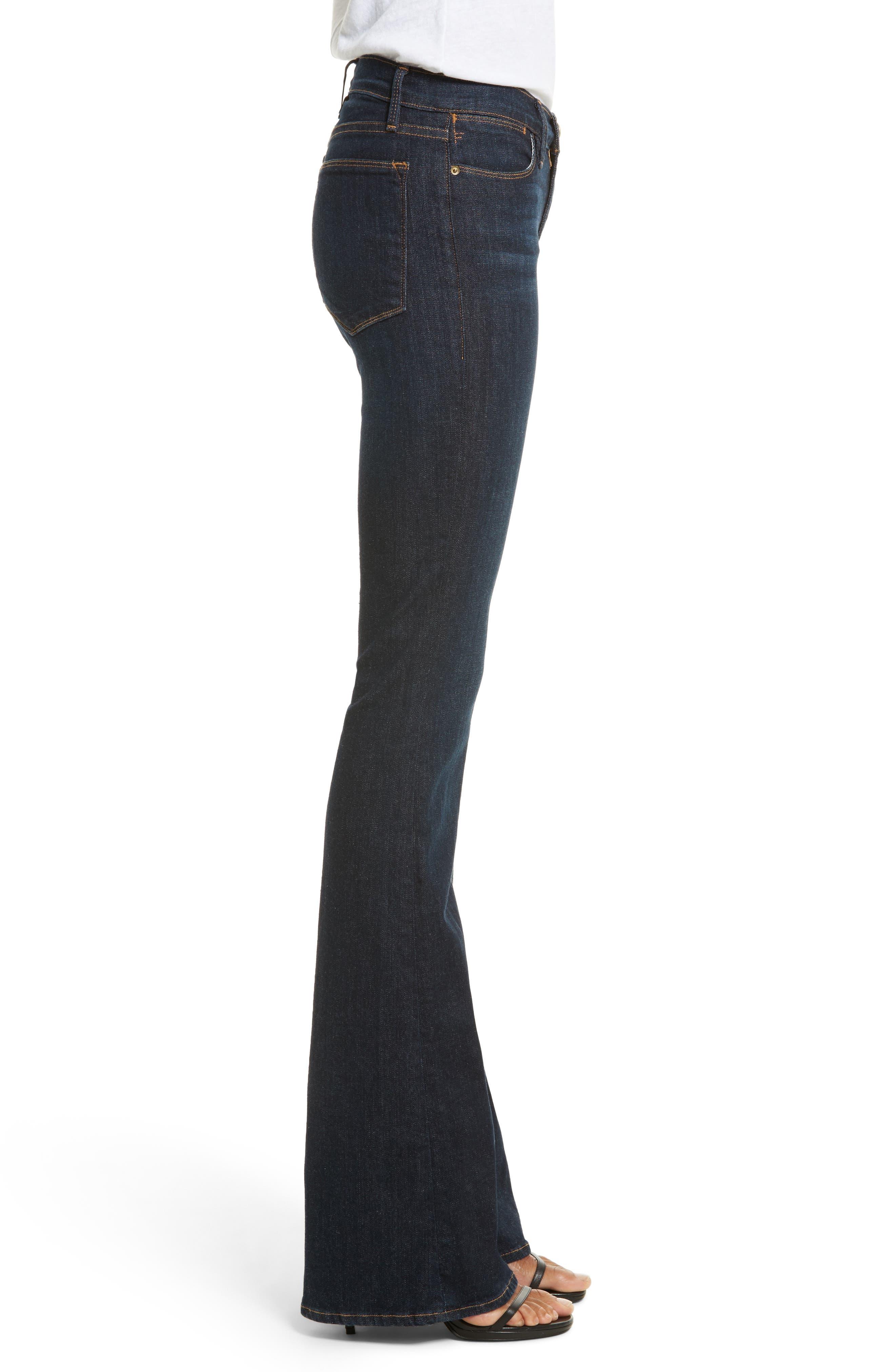 'Le High Flare' Jeans,                             Alternate thumbnail 3, color,                             401