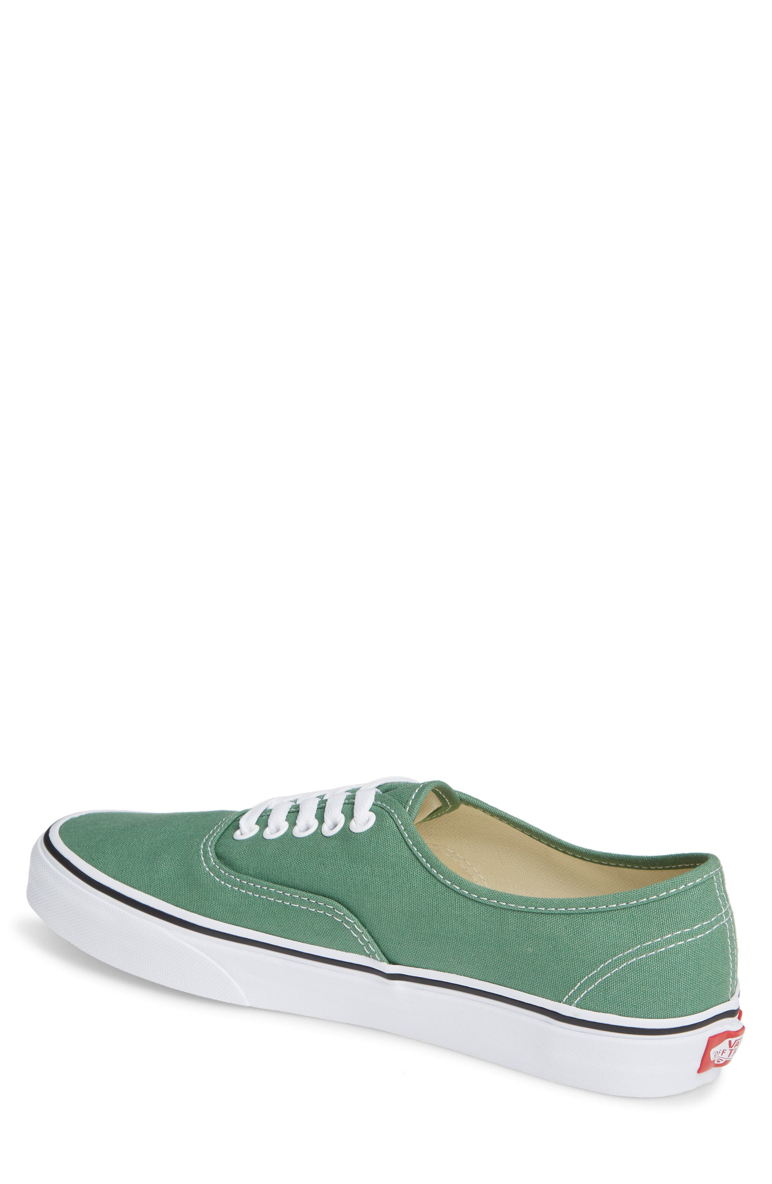 VANS,                             'Authentic' Sneaker,                             Alternate thumbnail 2, color,                             DEEP GRASS GREEN/ TRUE WHITE